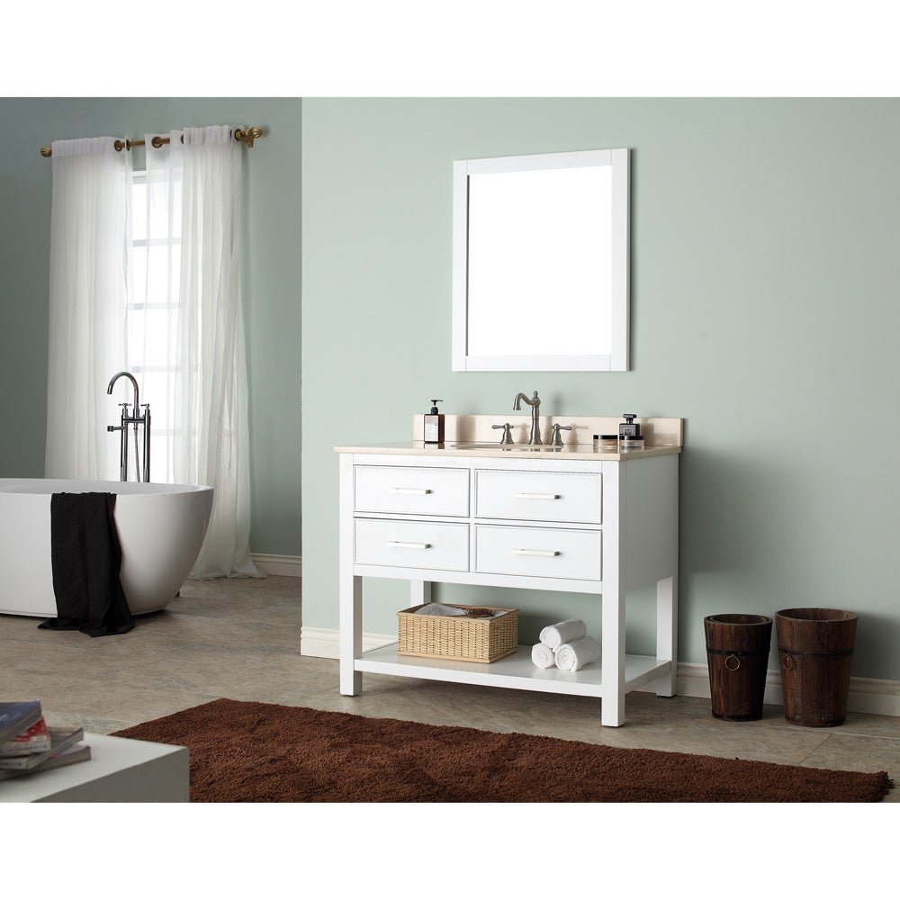 Avanity Brooks White 42-inch Vanity Combo - Free Shipping Today ...