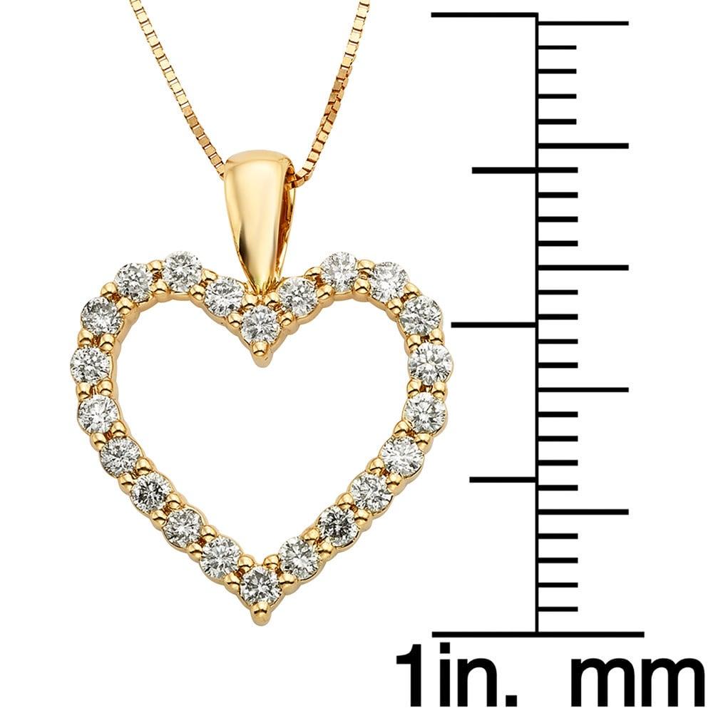 3e051cb47b803 Sofia 14k Gold 1/2ct TDW IGL Certified Diamond Heart Pendant