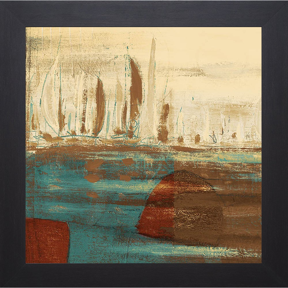Kingsley \'Calm Waters Square I\' Framed Artwork - Free Shipping Today ...