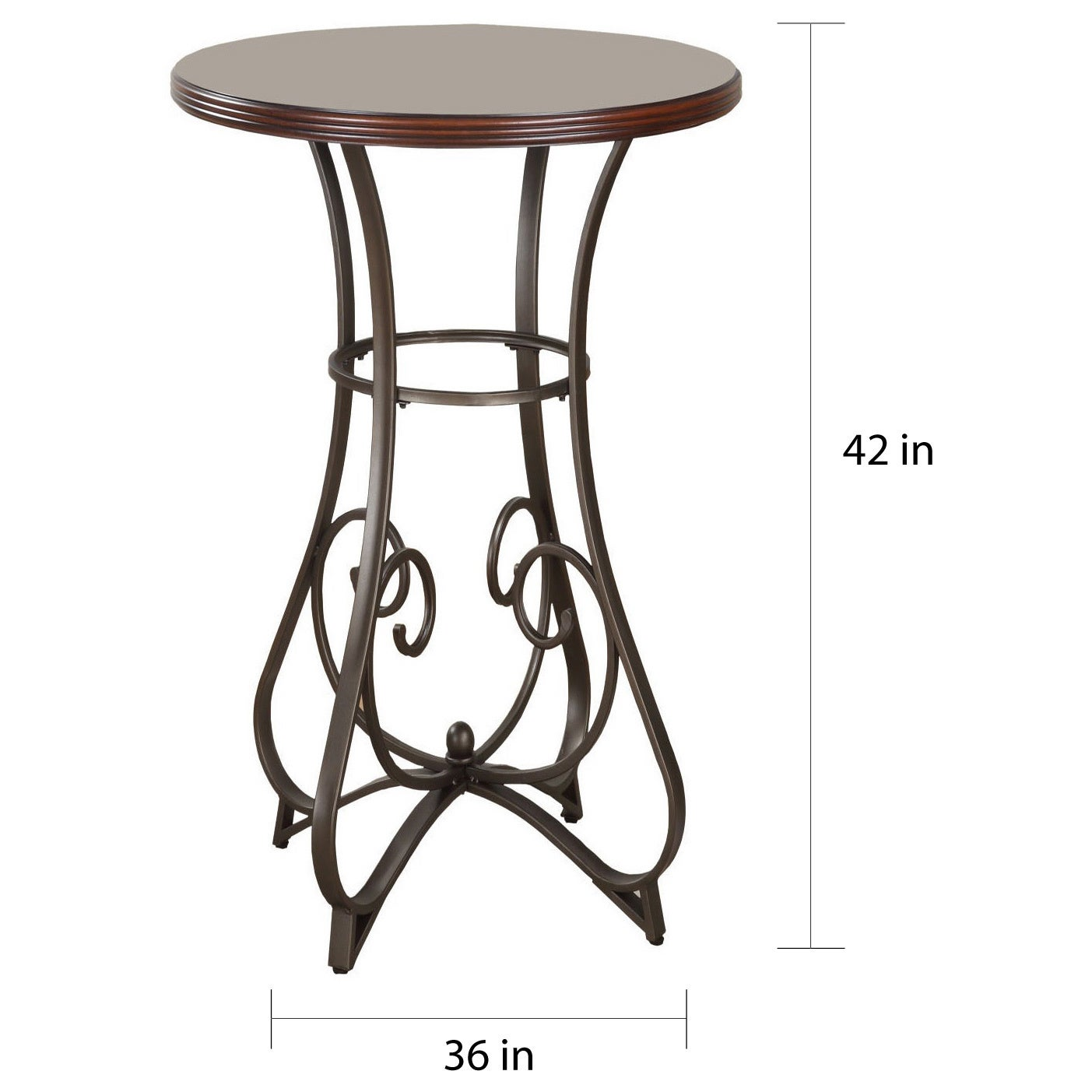 Shop Copper Grove Abernethy Pub Table   Free Shipping Today   Overstock.com    21065387