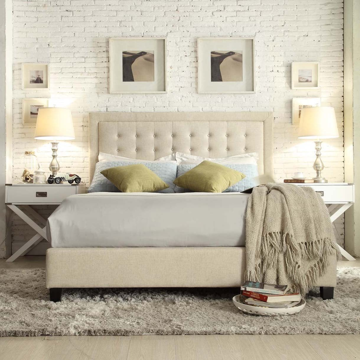 Bellevista Square Button-tufted Upholstered Queen Bed by iNSPIRE Q Bold -  Free Shipping Today - Overstock.com - 16577707