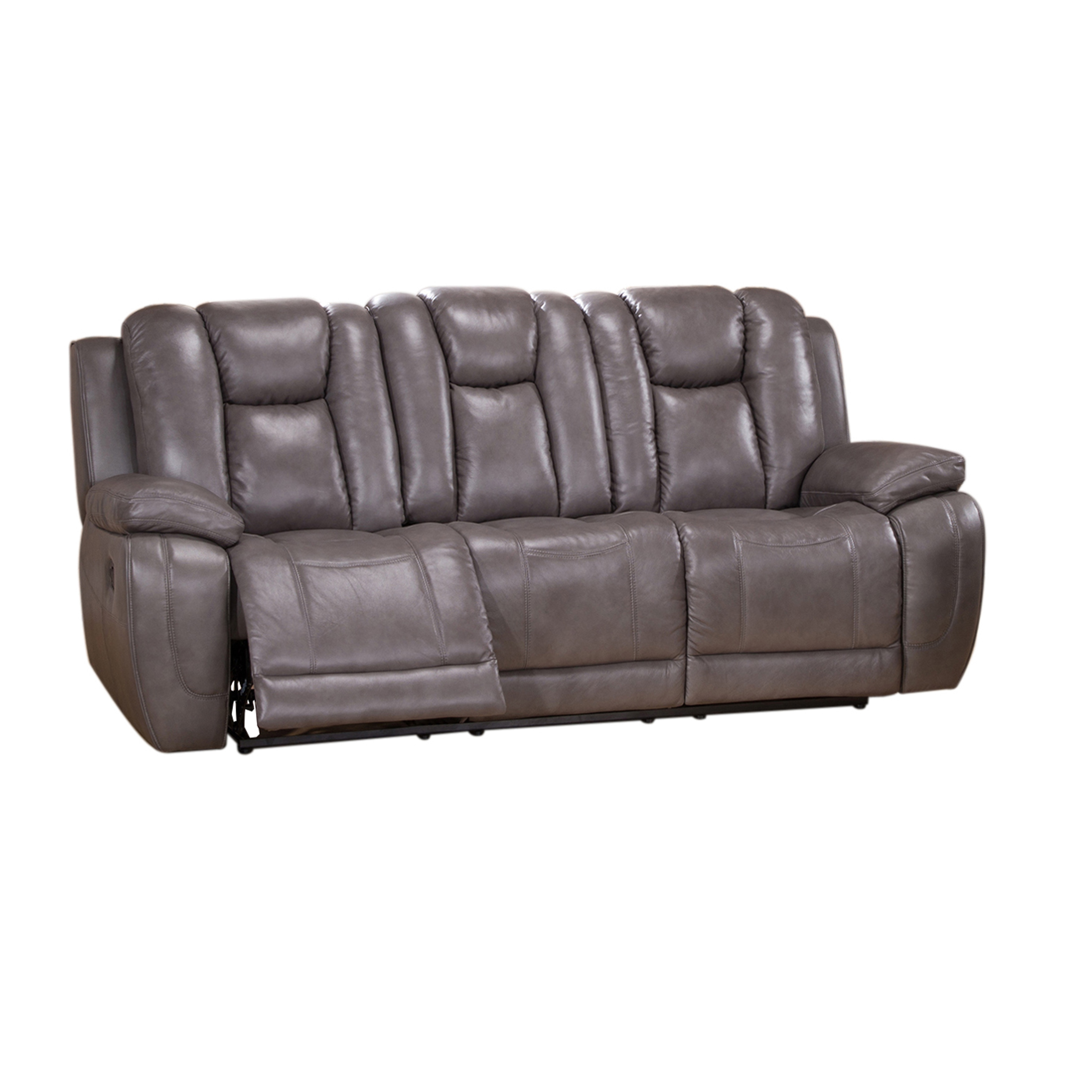 Shop Galaxy Gray Top Grain Leather Lay Flat Reclining Sofa, Loveseat And  Recliner Chair   On Sale   Free Shipping Today   Overstock.com   9388329