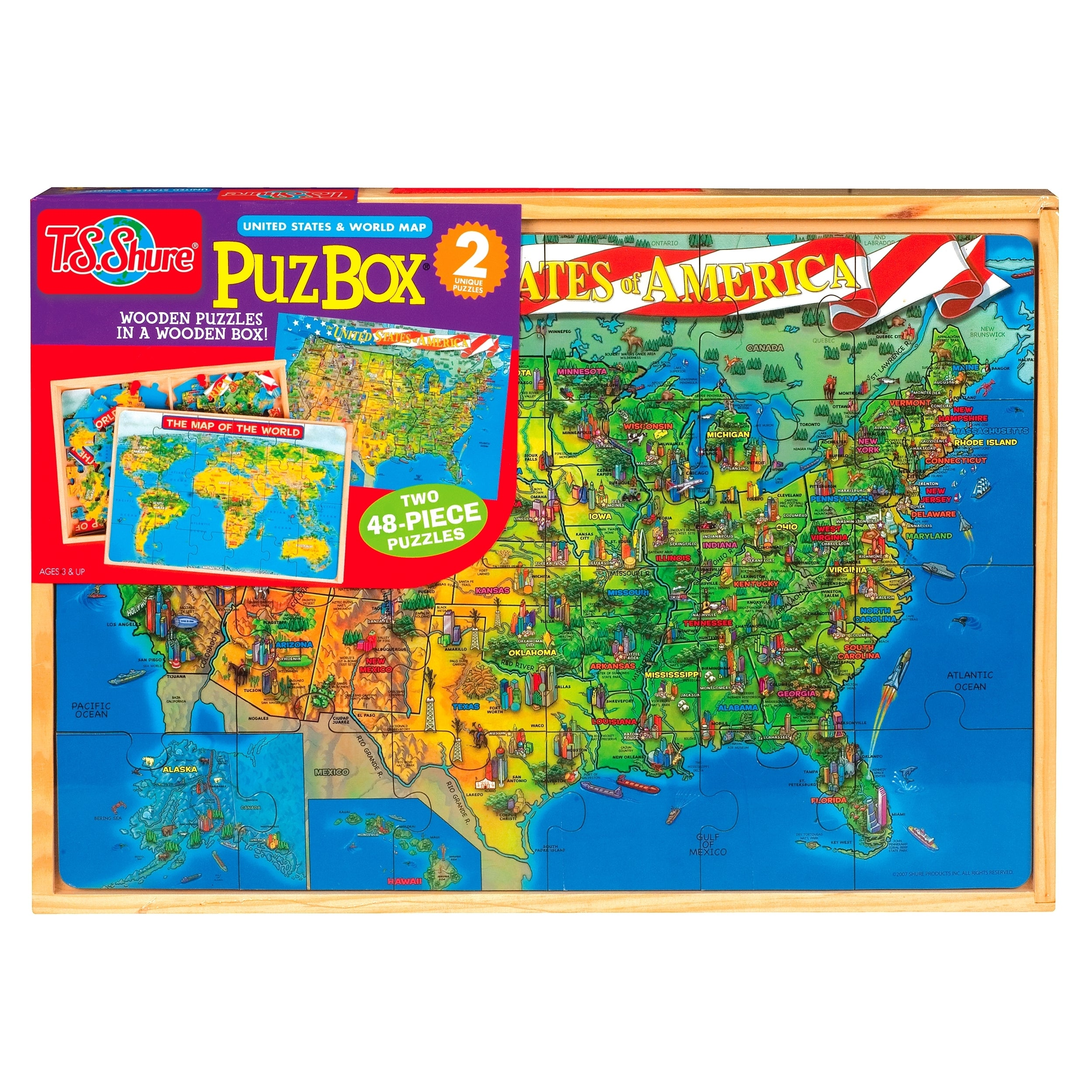 Us and world map jumbo puzzle in a wood box set free shipping on us and world map jumbo puzzle in a wood box set free shipping on orders over 45 overstock 16580871 gumiabroncs Image collections