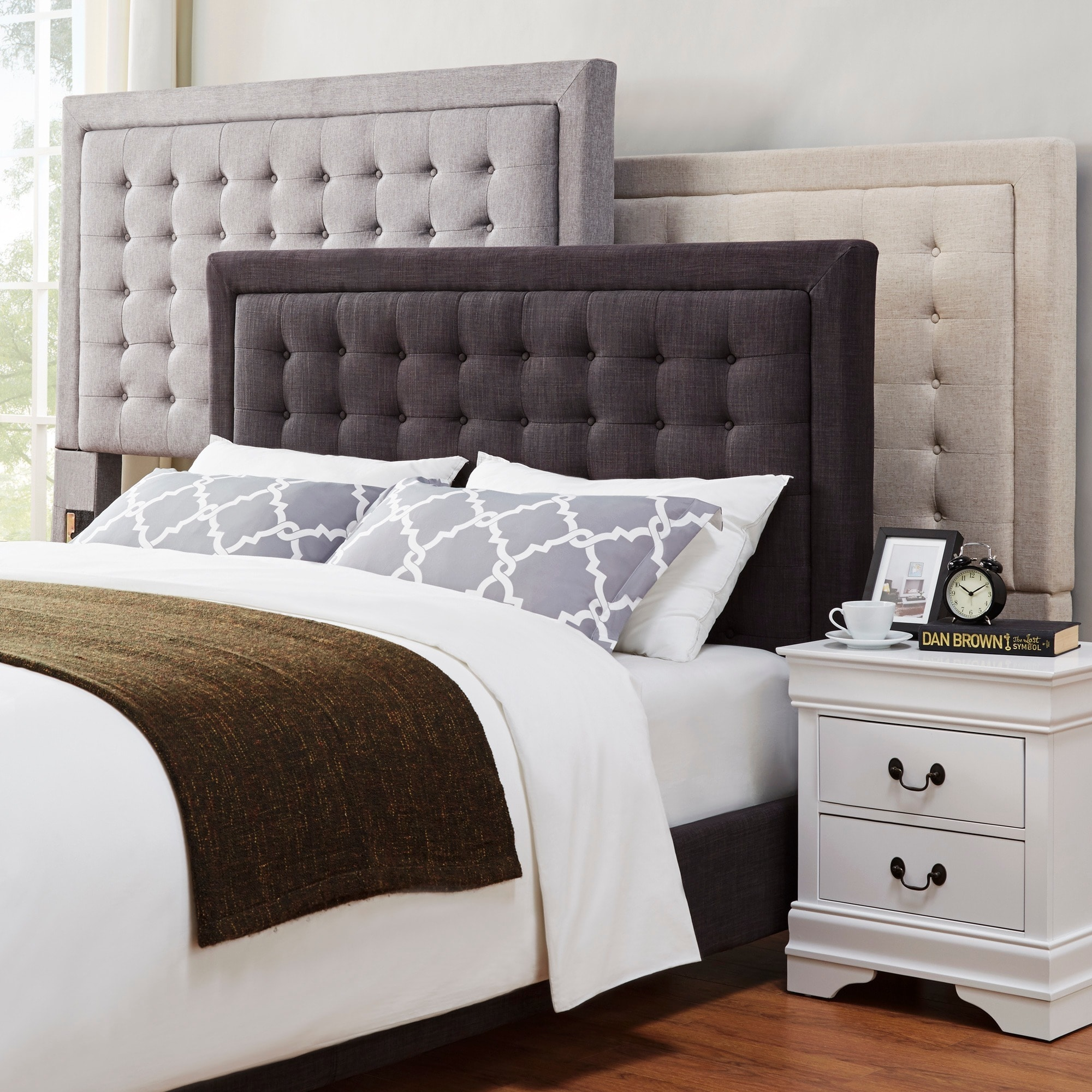 com black becker dark upholstered twin brown panel walmart only grey bed headboard ip