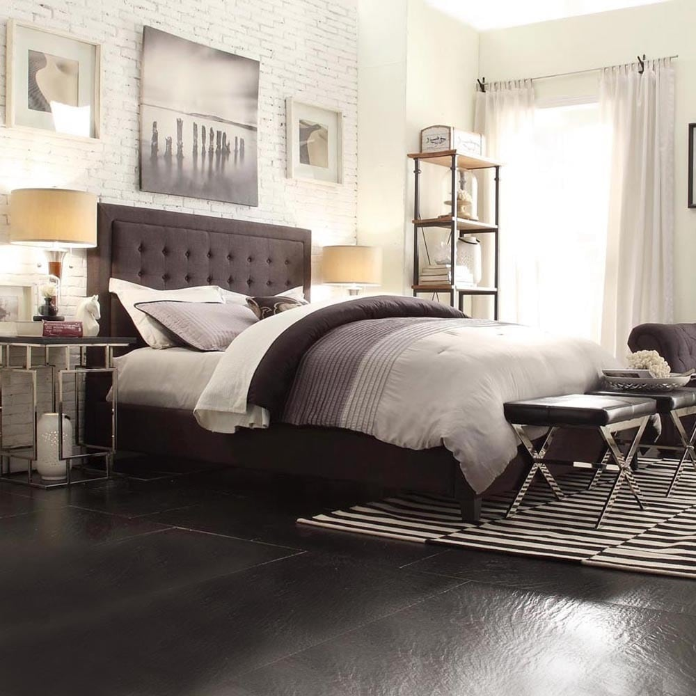 Bellevista Square Button-tufted Upholstered King-size Bed by iNSPIRE Q Bold  - Free Shipping Today - Overstock.com - 16580941