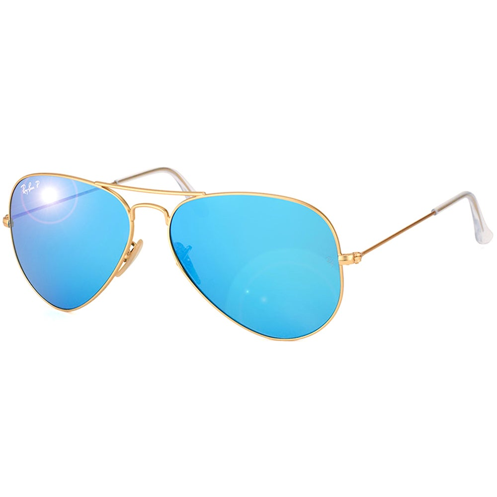 6a48021e27 Shop Ray-Ban Aviator RB3025 Unisex Gold Frame Blue Flash Polarized Lens  Sunglasses - Free Shipping Today - Overstock - 9394181