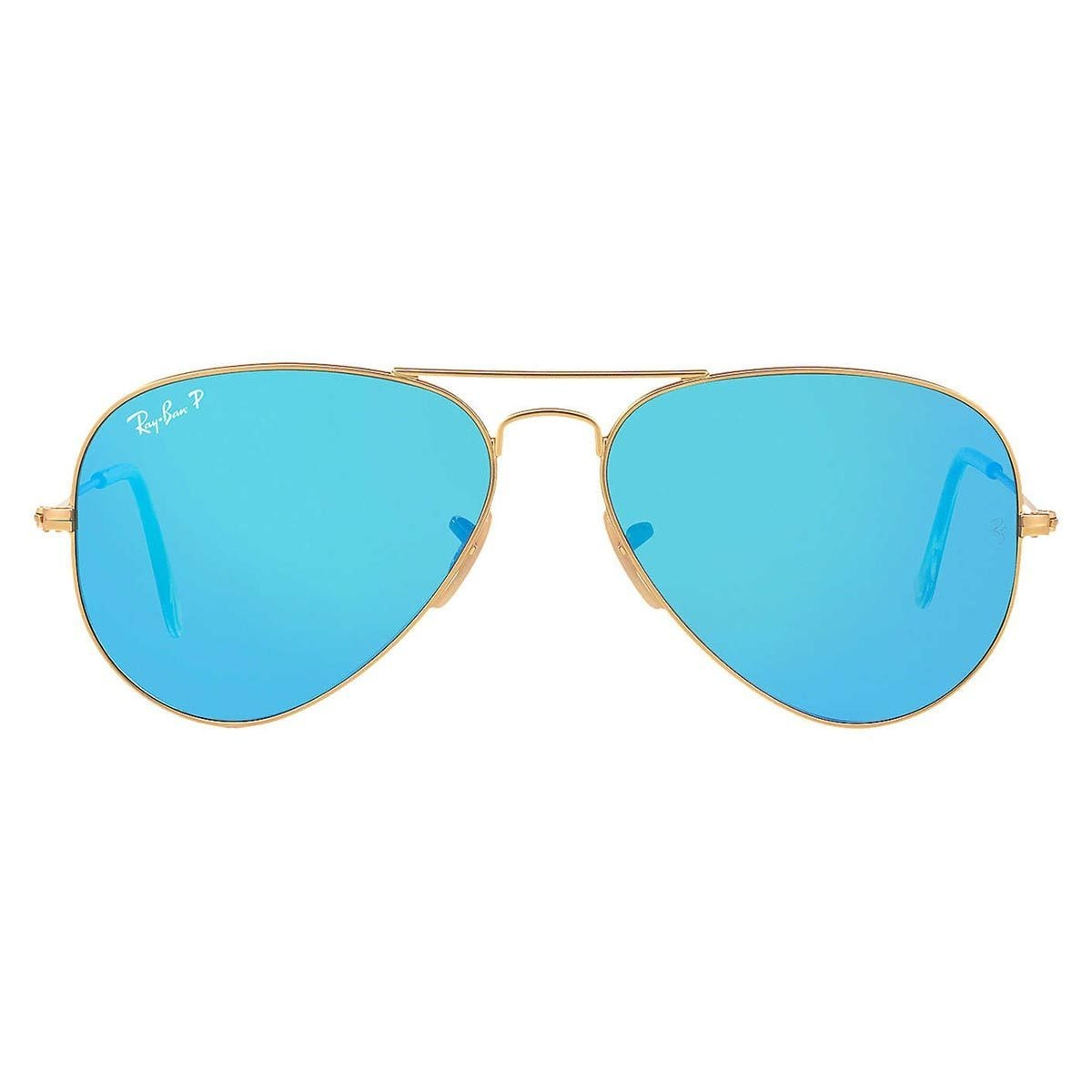 53f5845b89 Shop Ray-Ban Aviator RB3025 Unisex Gold Frame Blue Flash Polarized Lens  Sunglasses - Free Shipping Today - Overstock - 9394181