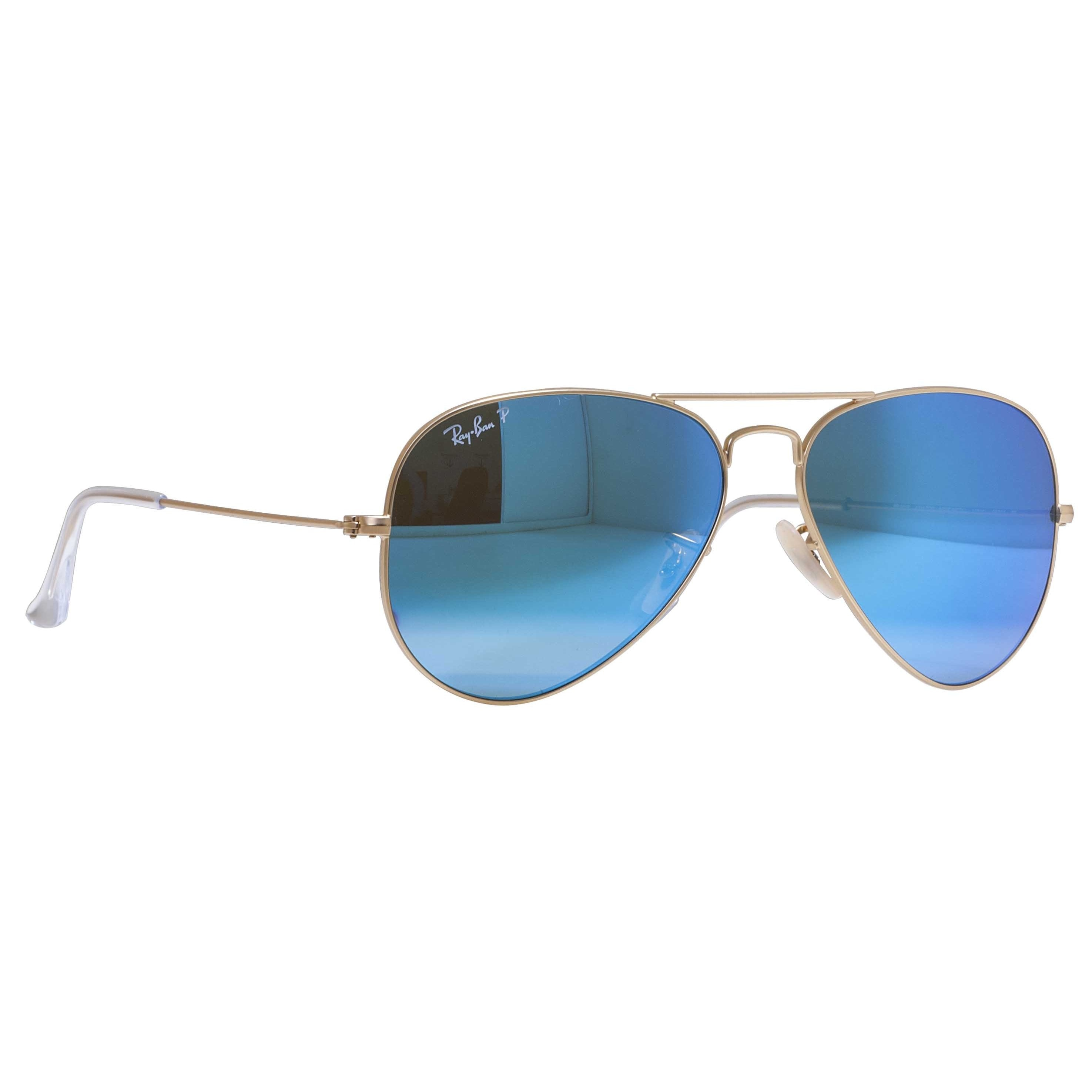 2edcc4593a Shop Ray-Ban Aviator RB3025 Unisex Gold Frame Blue Flash Polarized Lens  Sunglasses - Free Shipping Today - Overstock - 9394181