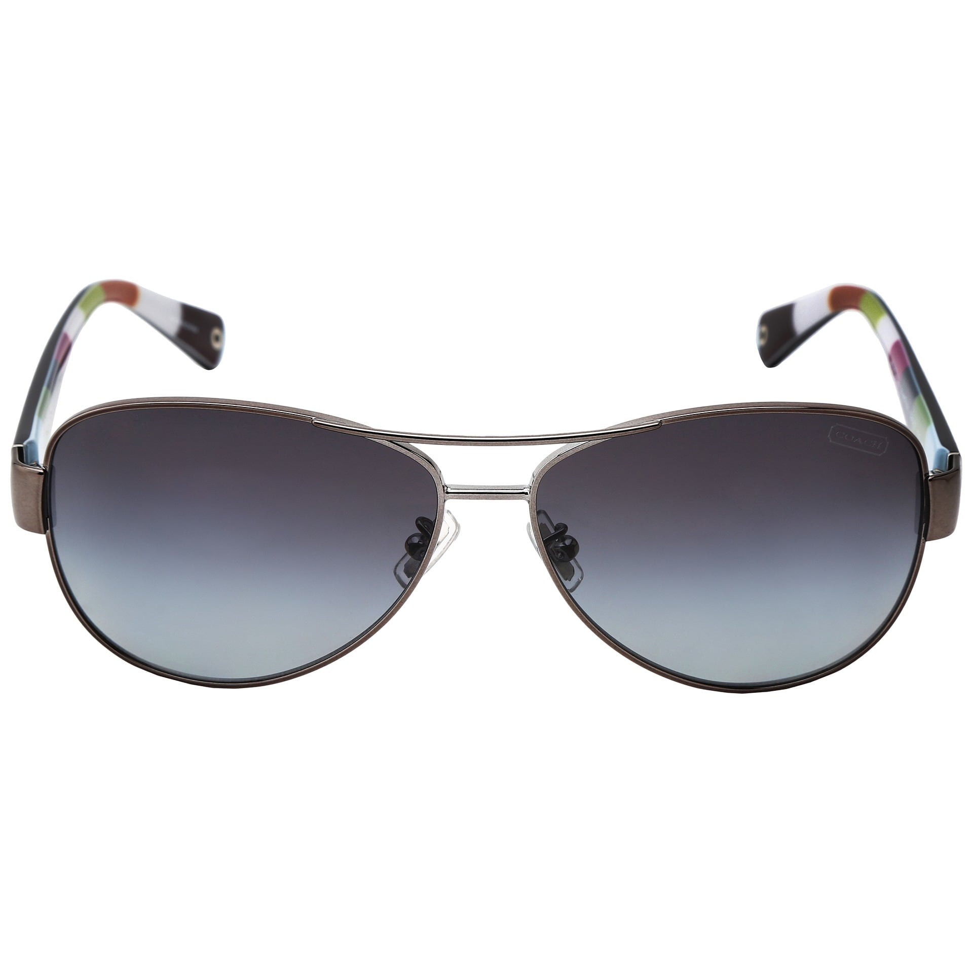 71130b382d Shop Coach Women s  L012 Kristina HC7003  9010T3 Metal Aviator Polarized  Sunglasses - Free Shipping Today - Overstock - 9394202