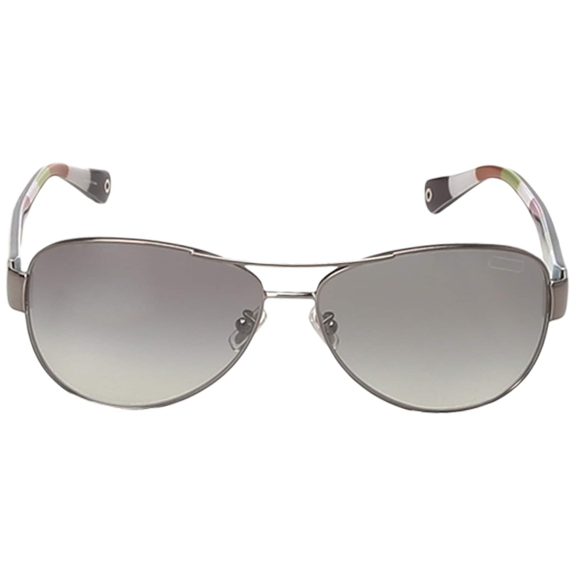 87a2d12b4d05 ... wholesale shop coach womens l012 kristina hc7003 9010t3 metal aviator  polarized sunglasses free shipping today overstock