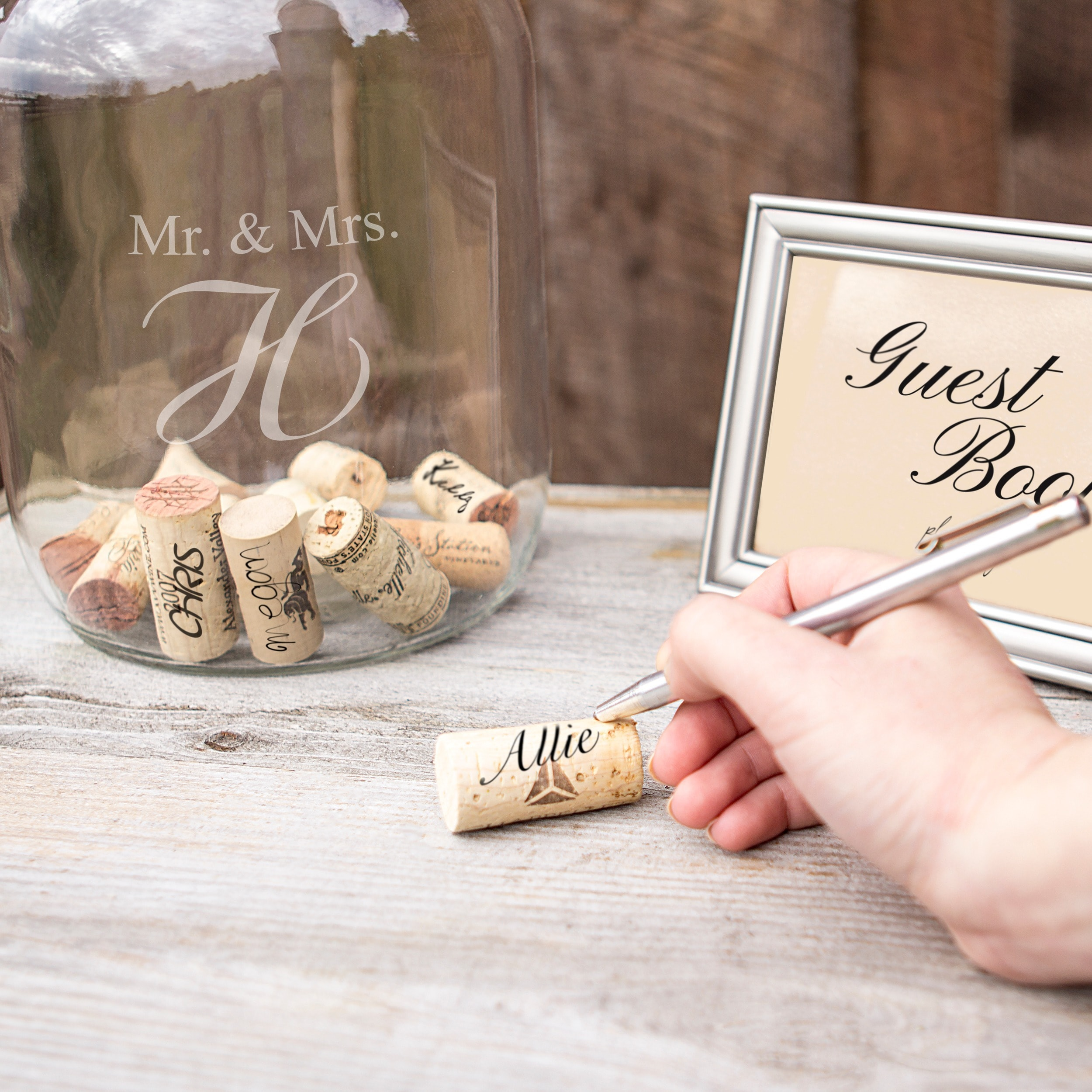 Personalized mr mrs wedding wishes in a bottle guest bottle personalized mr mrs wedding wishes in a bottle guest bottle free shipping on orders over 45 overstock 16584914 kristyandbryce Images