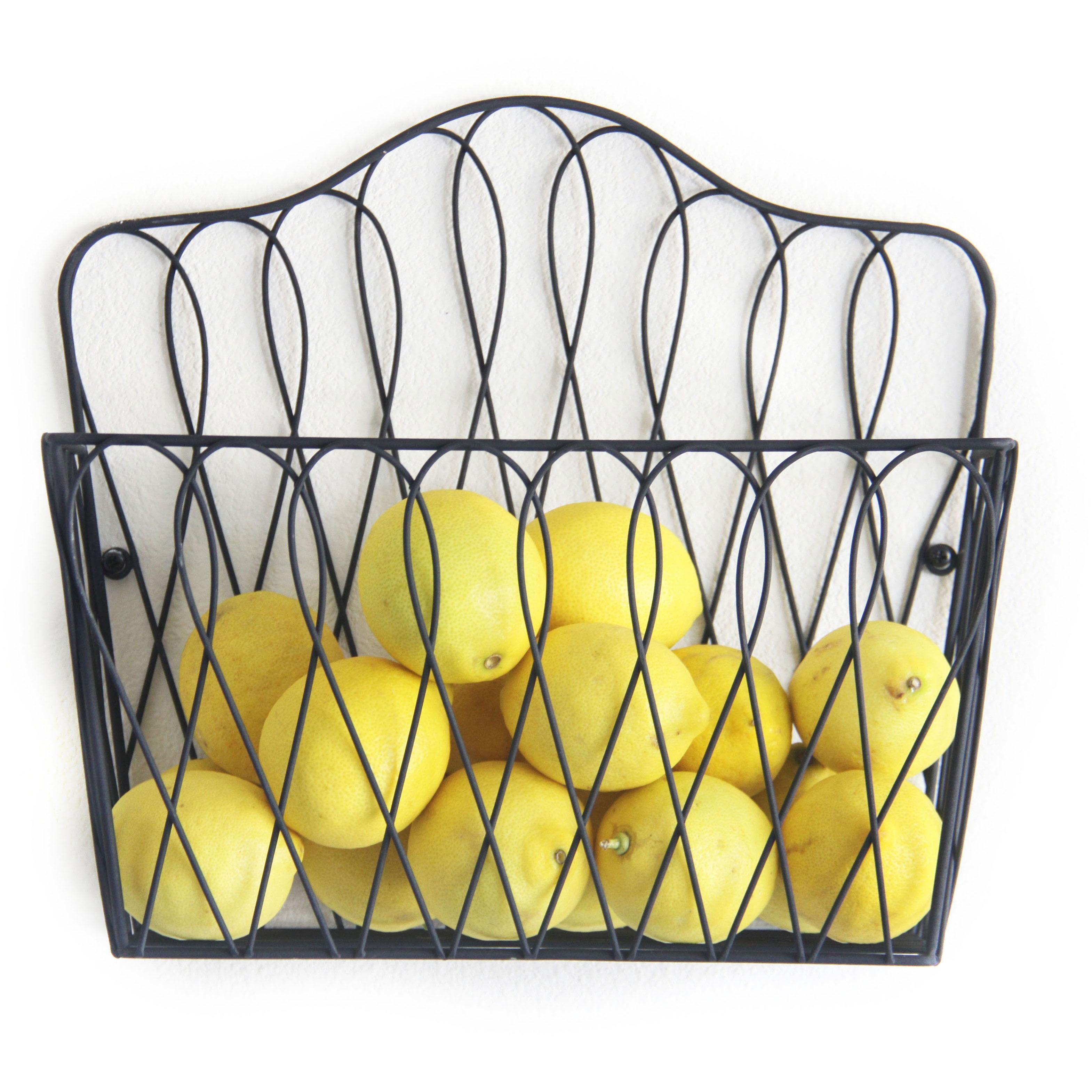 Shop Wall-mounted Magazine Rack Fruit Basket - Free Shipping On ...