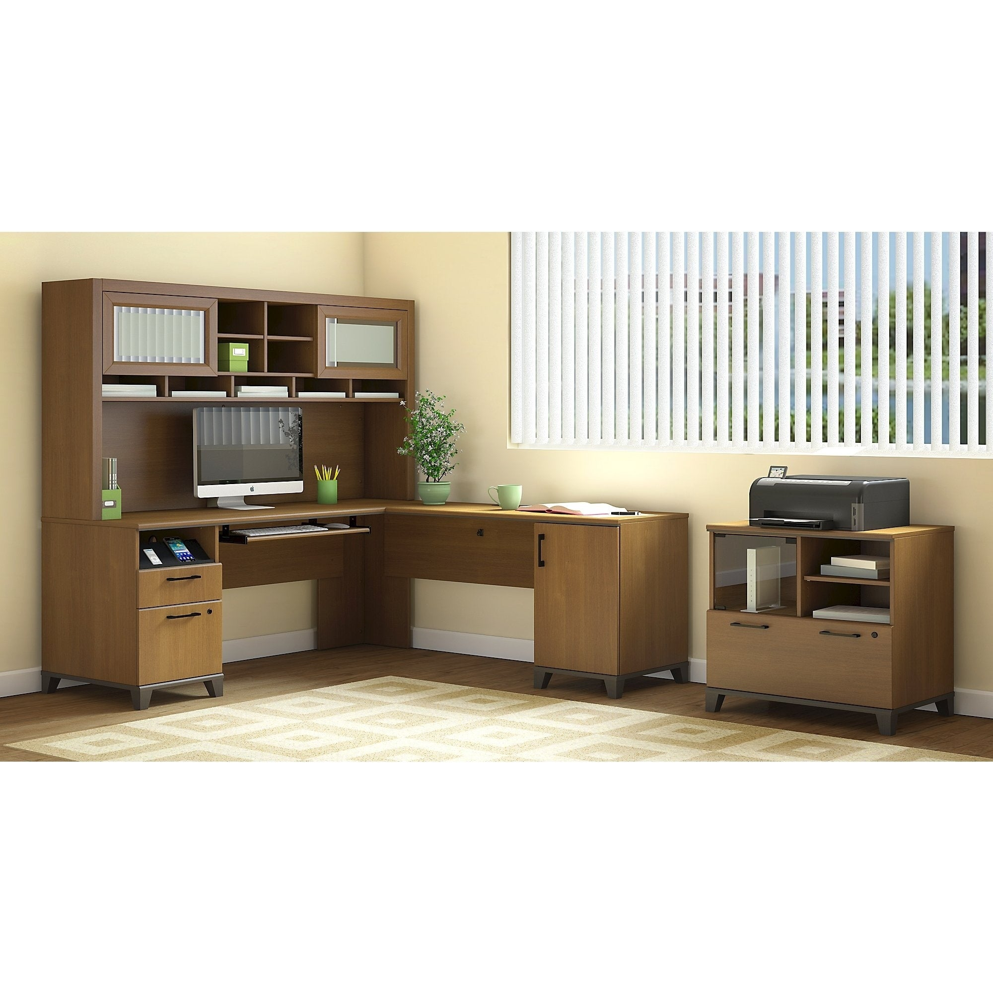 Bush Furniture Achieve Printer Stand File Cabinet