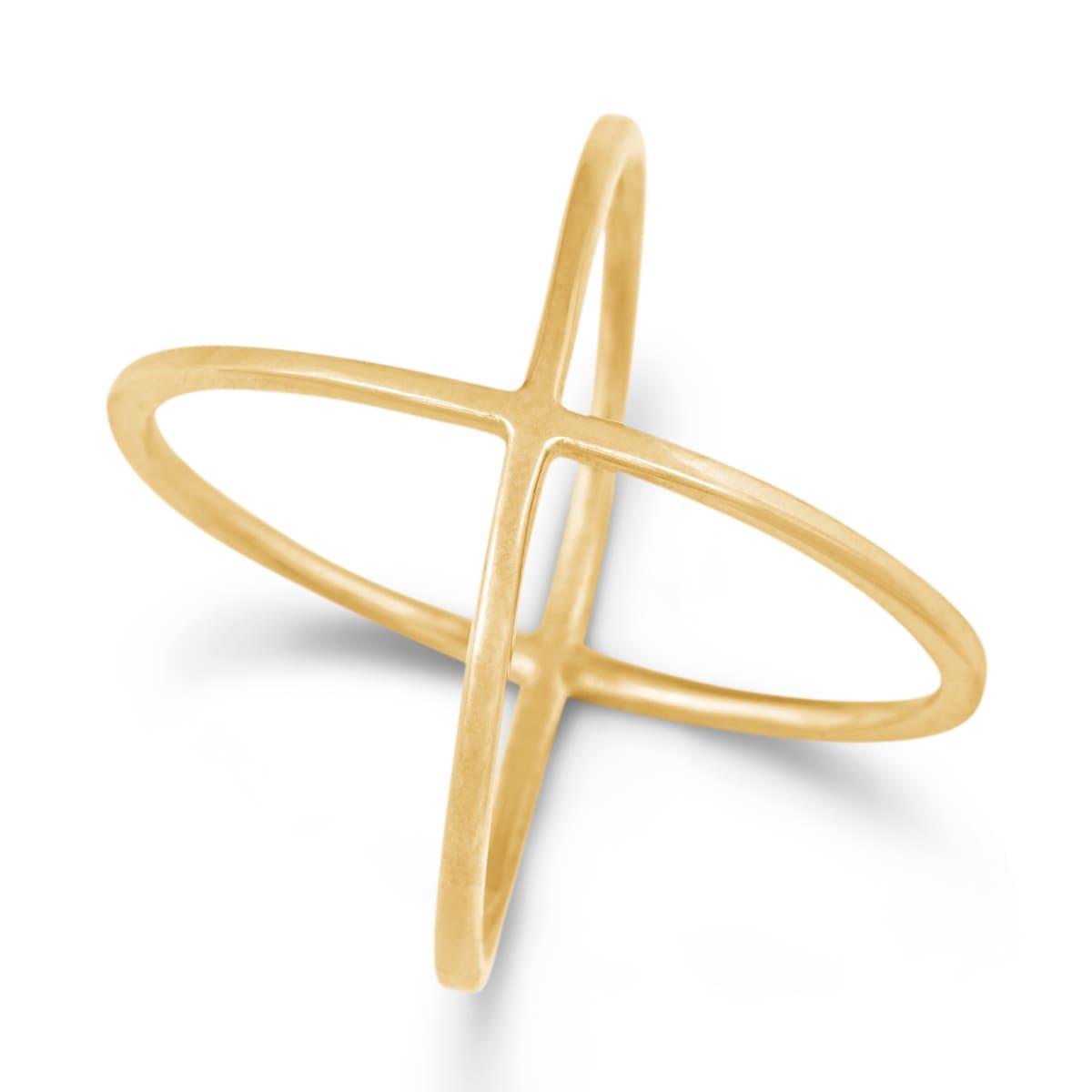 Shop La Preciosa Sterling Silver Criss-Cross Ring - Free Shipping On ...