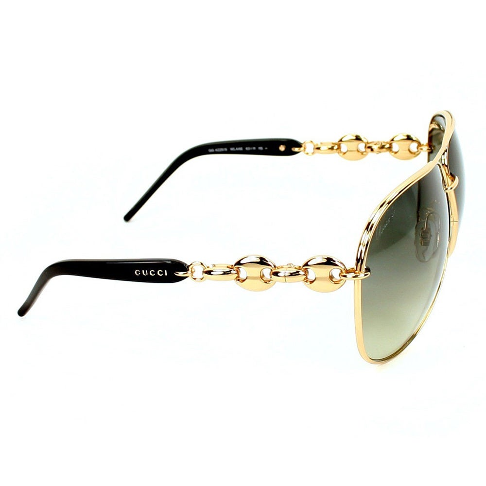 2850ad9fc9e26 Shop Gucci Women s  GG 4225 S WL4AE  Rose Gold  Black Fashion Sunglasses -  Gold - Large - Free Shipping Today - Overstock - 9397274