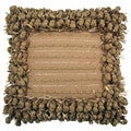 Hand-woven Tan Poly Nubs 18-inch Feather-filled Throw Pillow