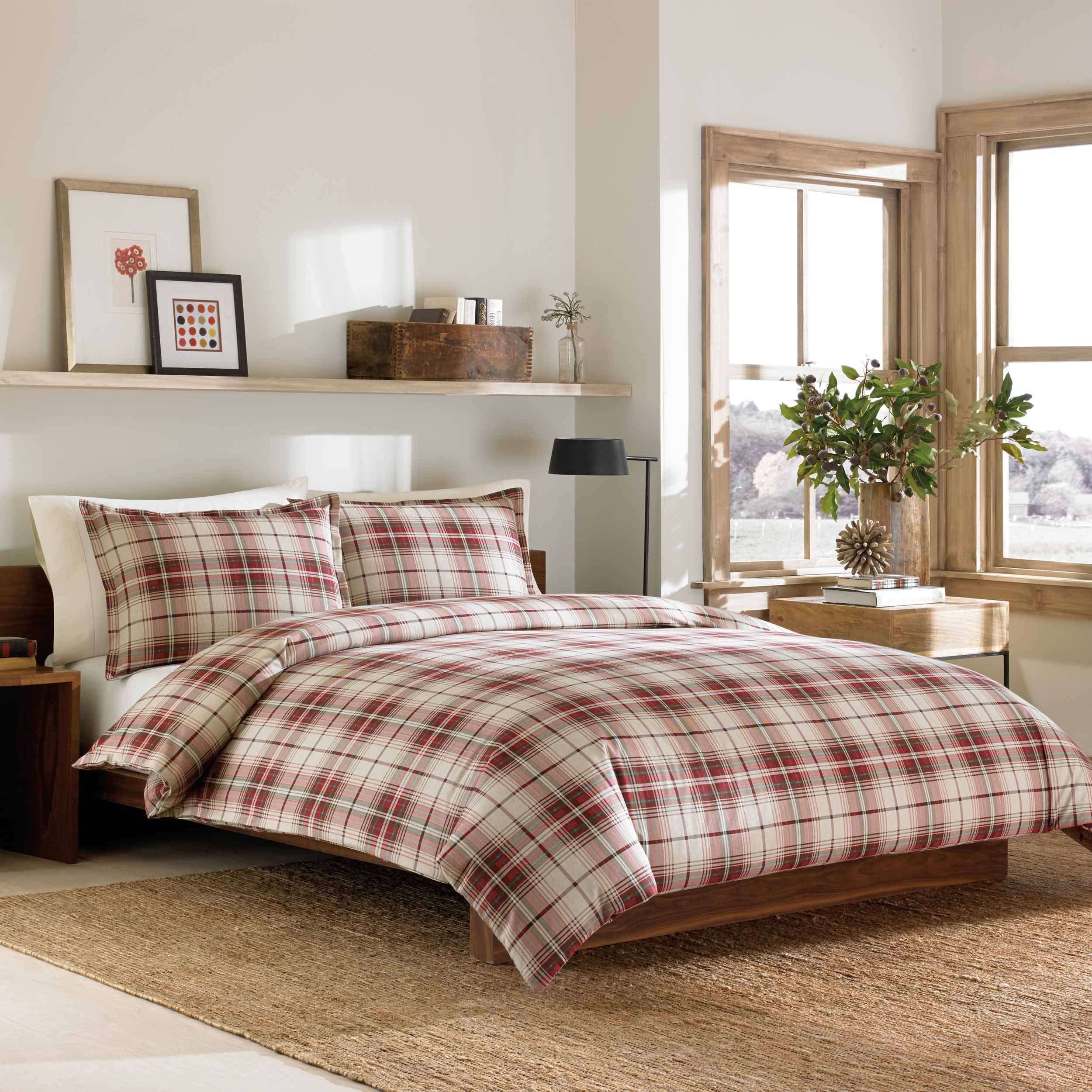 flannel sets red queen twin size cover king plaid xl duvet white pinzon com comforter