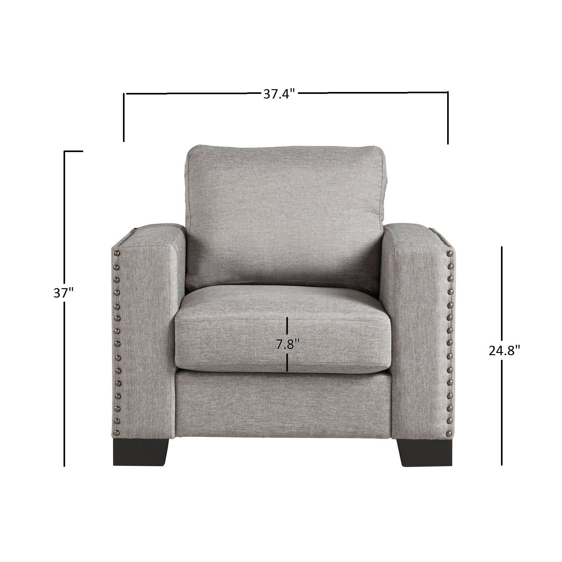 Torrington Linen Nailhead Track Arm Accent Chair by iNSPIRE Q Classic -  Free Shipping Today - Overstock.com - 16588549