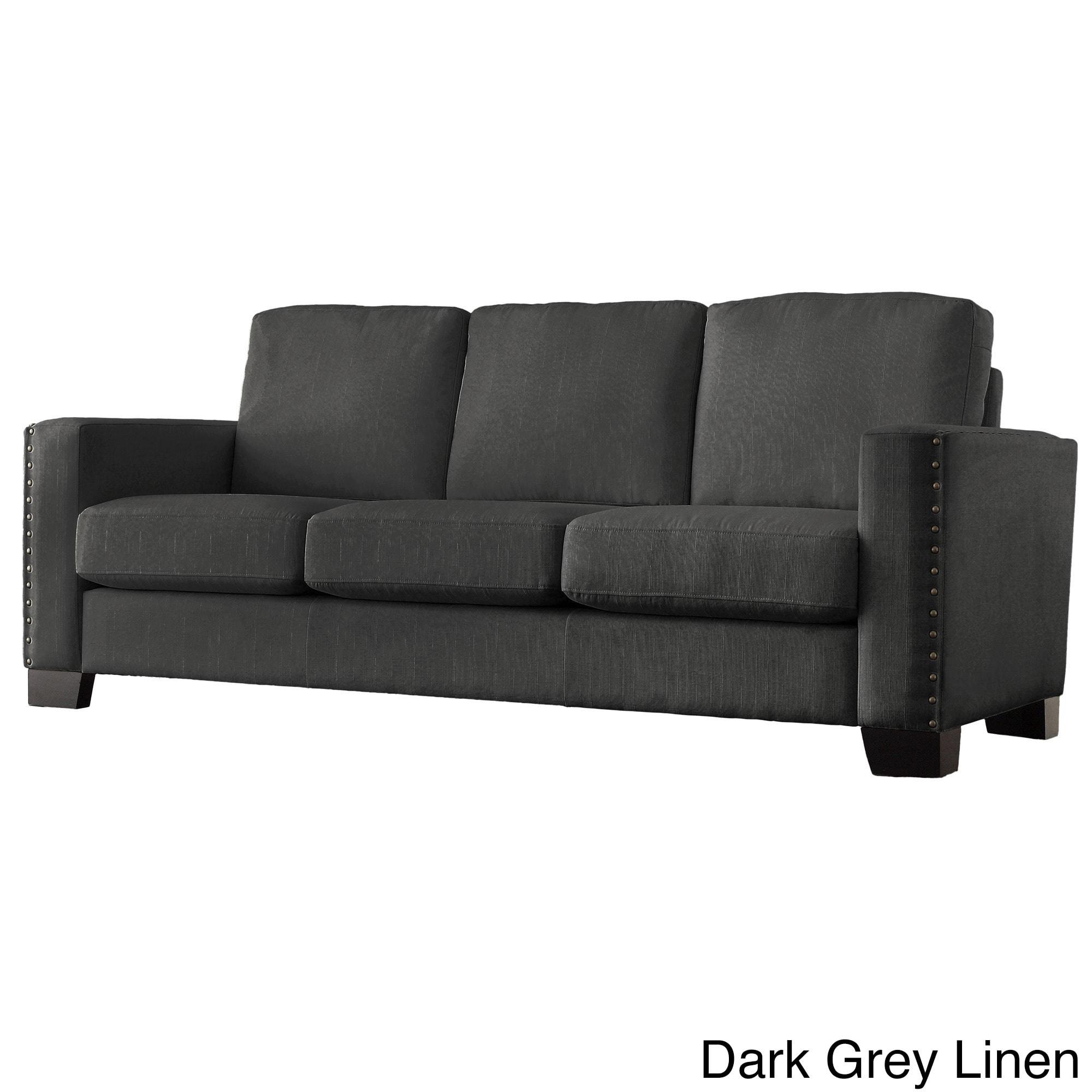 Torrington Linen Nailhead Track Arm Sofa by iNSPIRE Q Classic - Free  Shipping Today - Overstock.com - 16588552