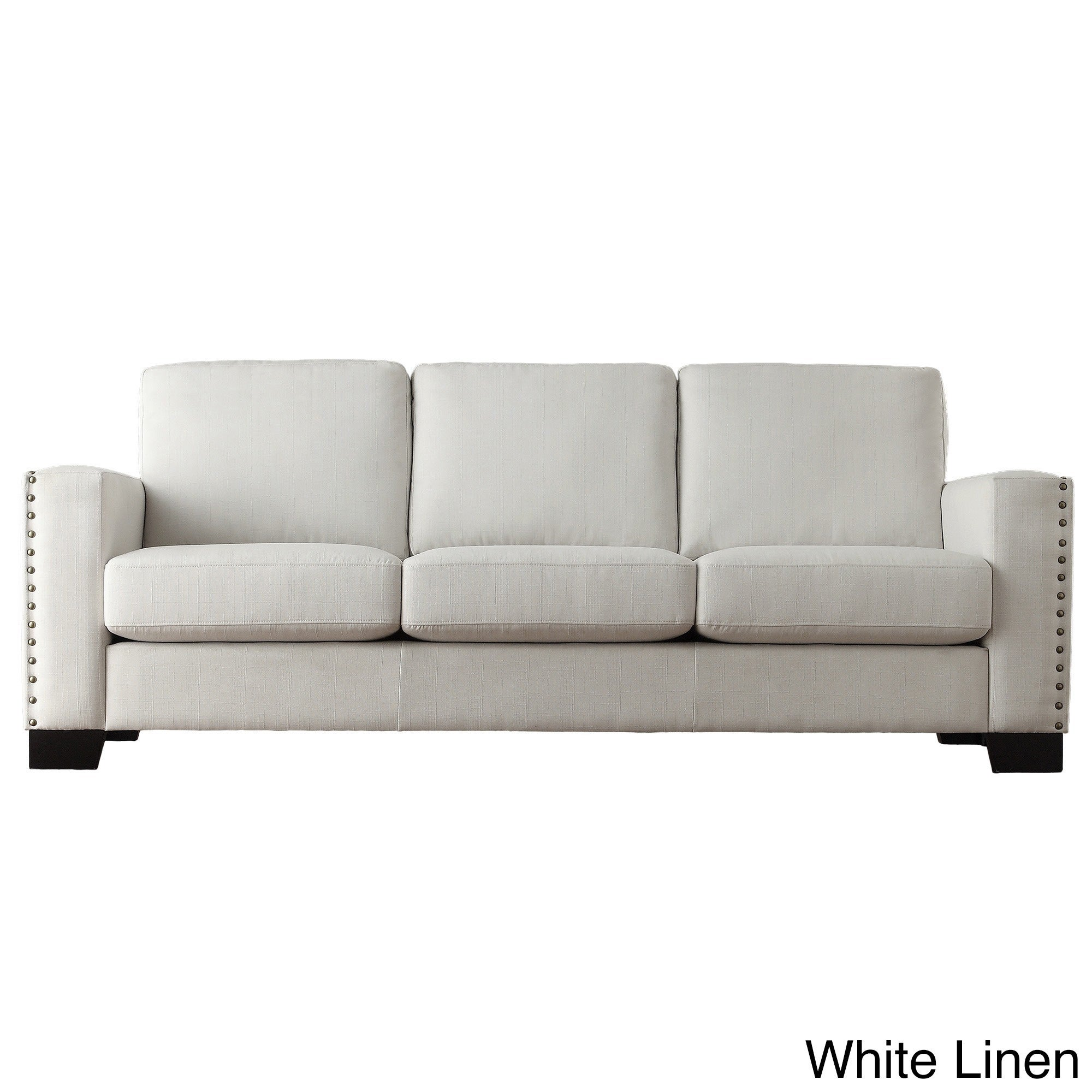 Torrington Linen Nailhead Track Arm Sofa by iNSPIRE Q Classic - Free  Shipping Today - Overstock.com - 16588552