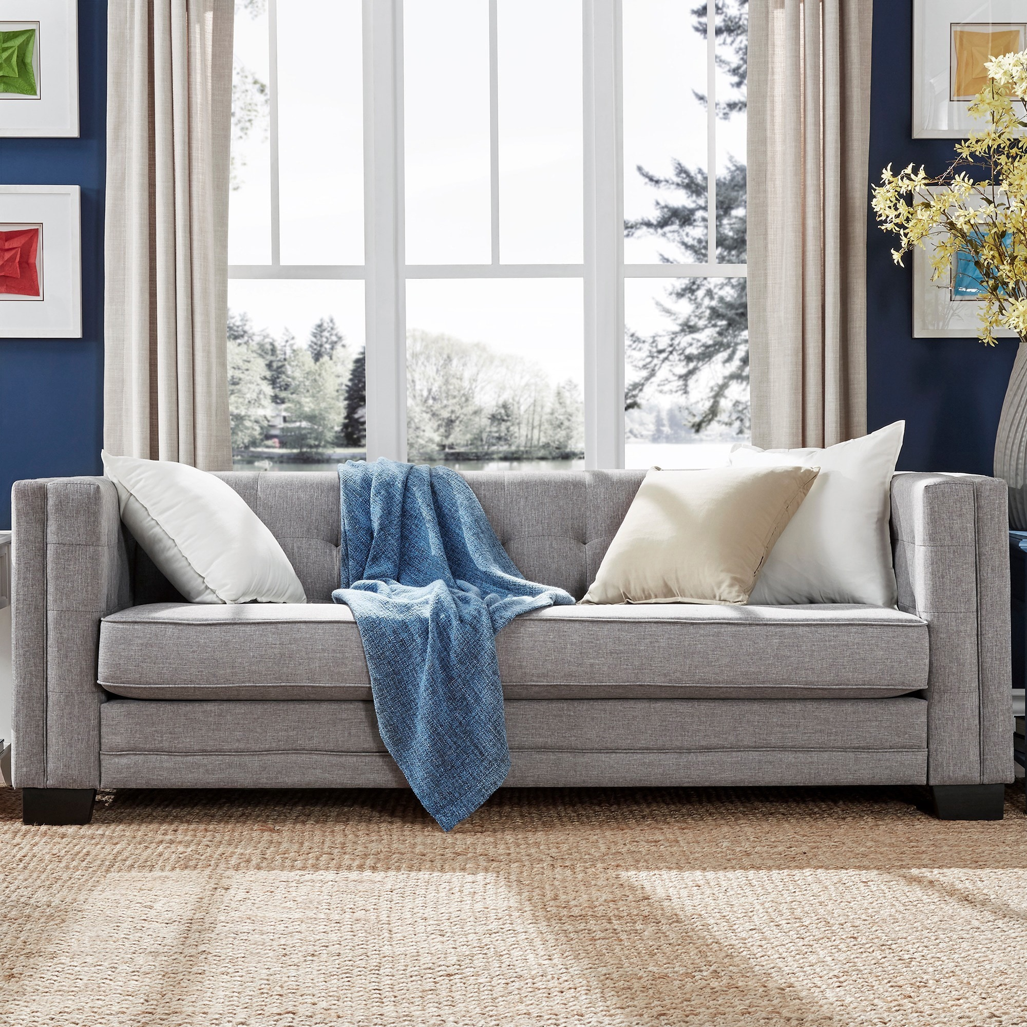 Hamilton Modern Linen Sofa with Button Tufting by iNSPIRE Q Bold - Free  Shipping Today - Overstock.com - 16588553