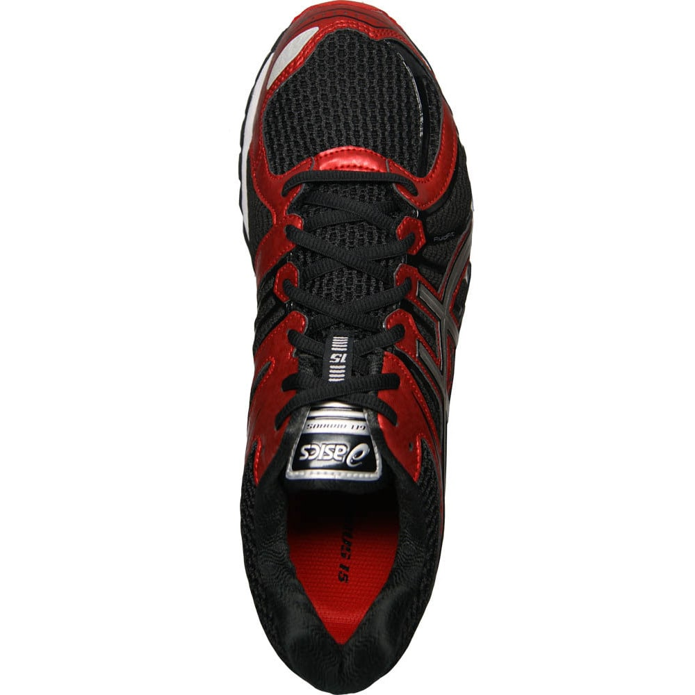 a1c7d4cca8 Shop Asics Men s  Gel Nimbus 15  Black  Red  Silver Running Shoes - Free  Shipping Today - Overstock.com - 9400663