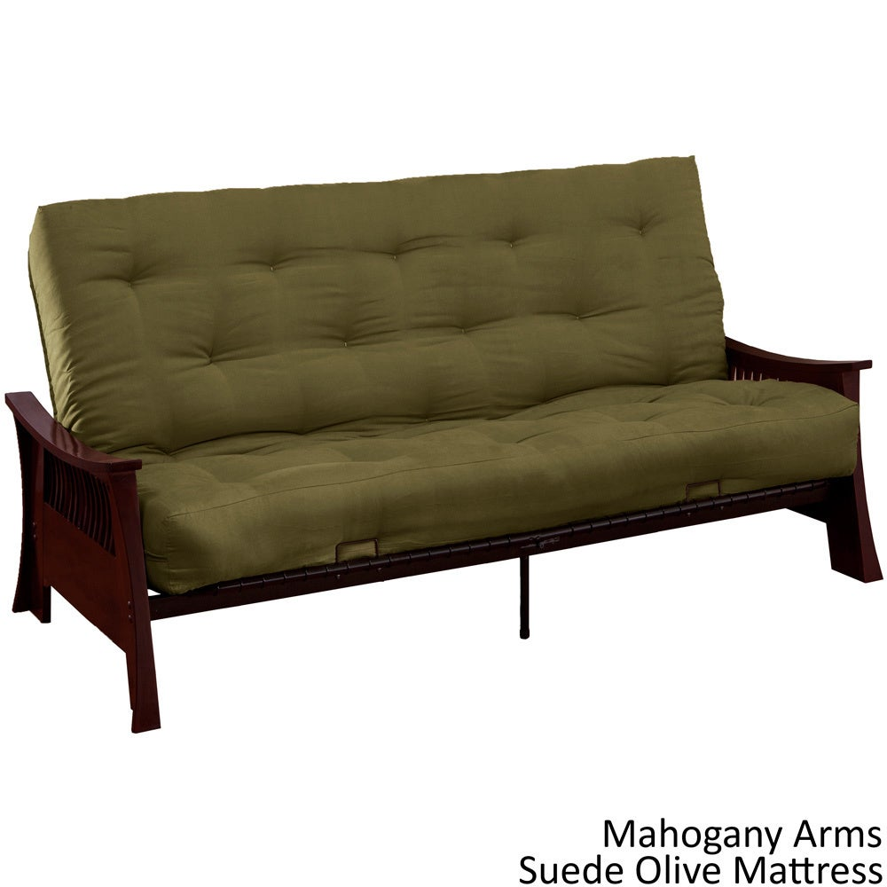 Beijing Microfiber Suede Inner Spring Full Or Queen Size Futon Sofa Sleeper Bed On Free Shipping Today 9400674
