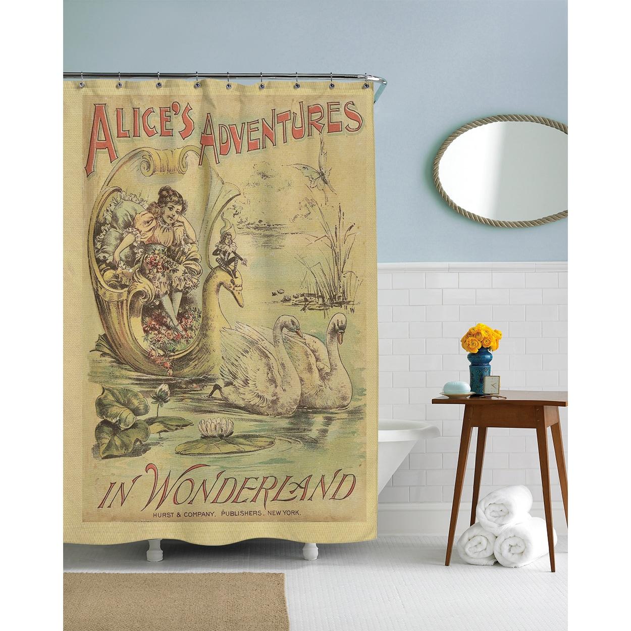 Shop Alice In Wonderland Printed Shower Curtain