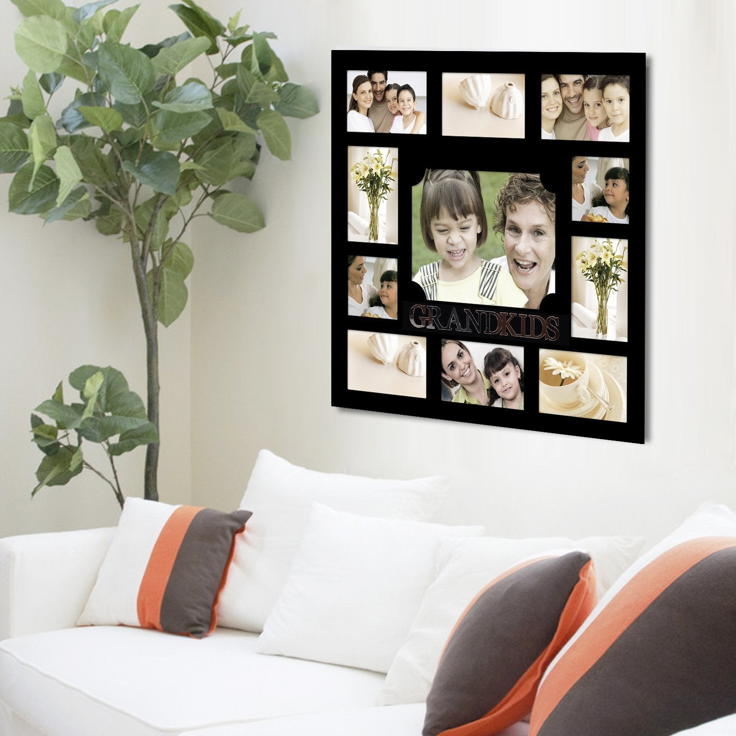 Shop Adeco U0027Grandkidsu0027 Black Wooden 11 Opening Collage Photo Frame   Free  Shipping On Orders Over $45   Overstock.com   9401312