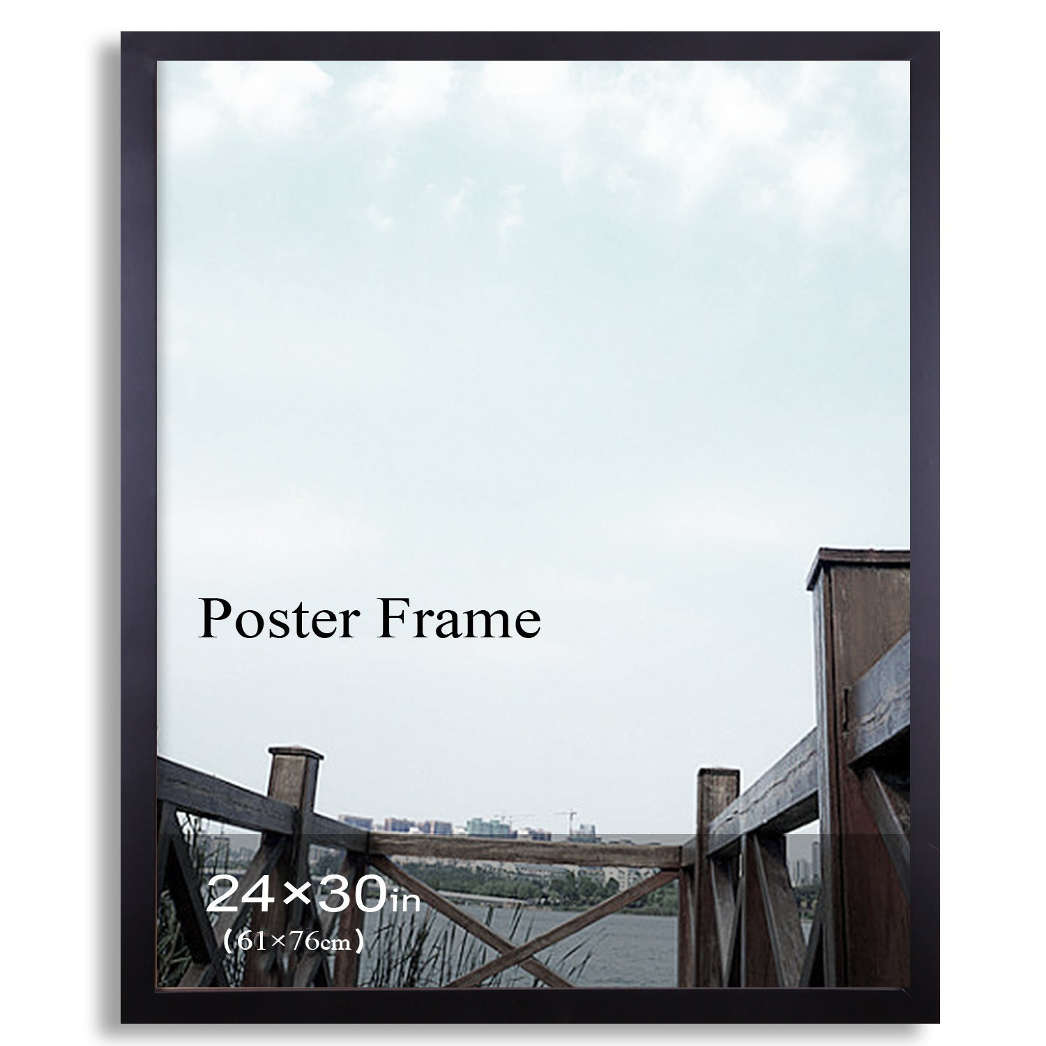 Shop Adeco Black 24-inch x 30-inch Poster/ Picture Frame with Clear ...