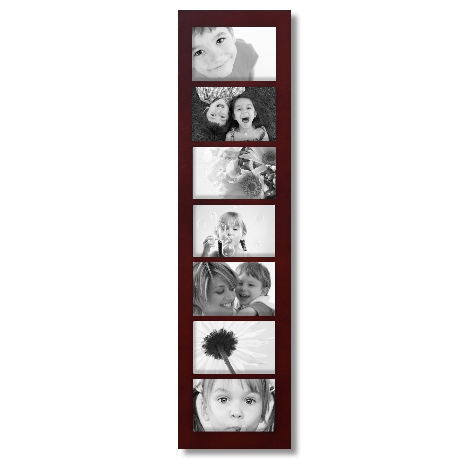Shop Adeco 7-opening Walnut 4x6 Collage Picture Frame - Free ...