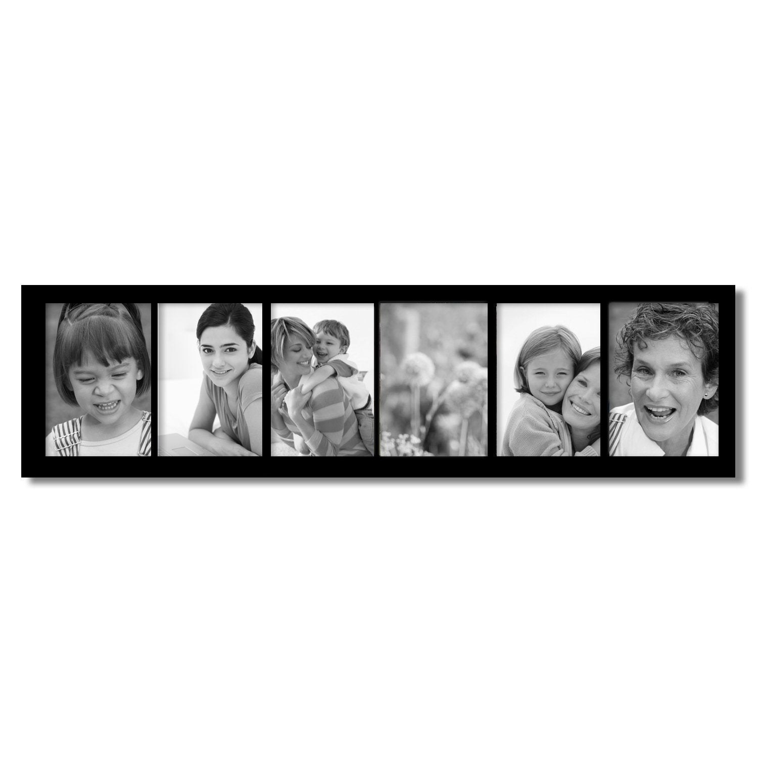 Shop Adeco 6 Opening Black 5x7 Collage Picture Frame Free Shipping