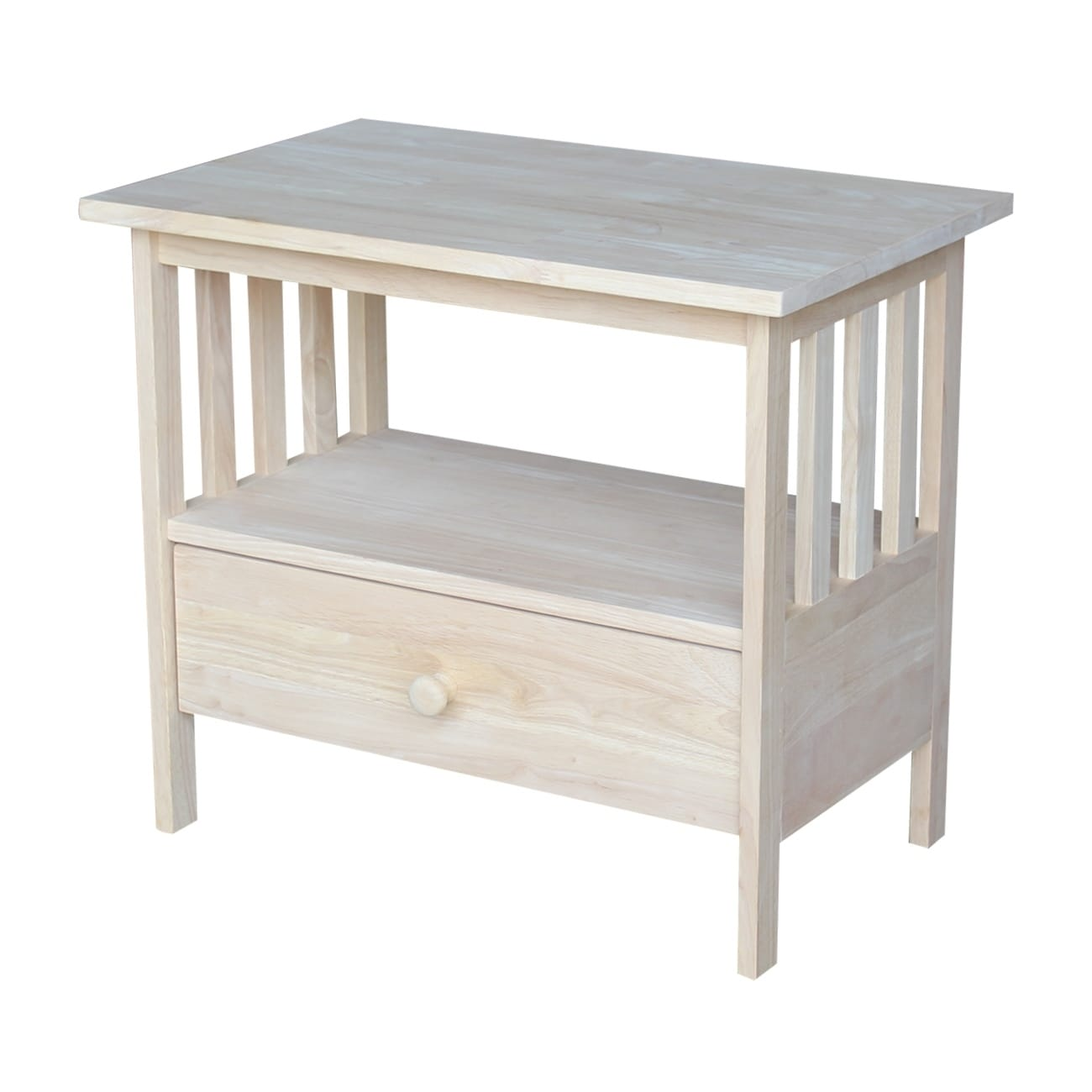 Unfinished Solid Parawood Mission Tv Stand Free Shipping Today 9408481