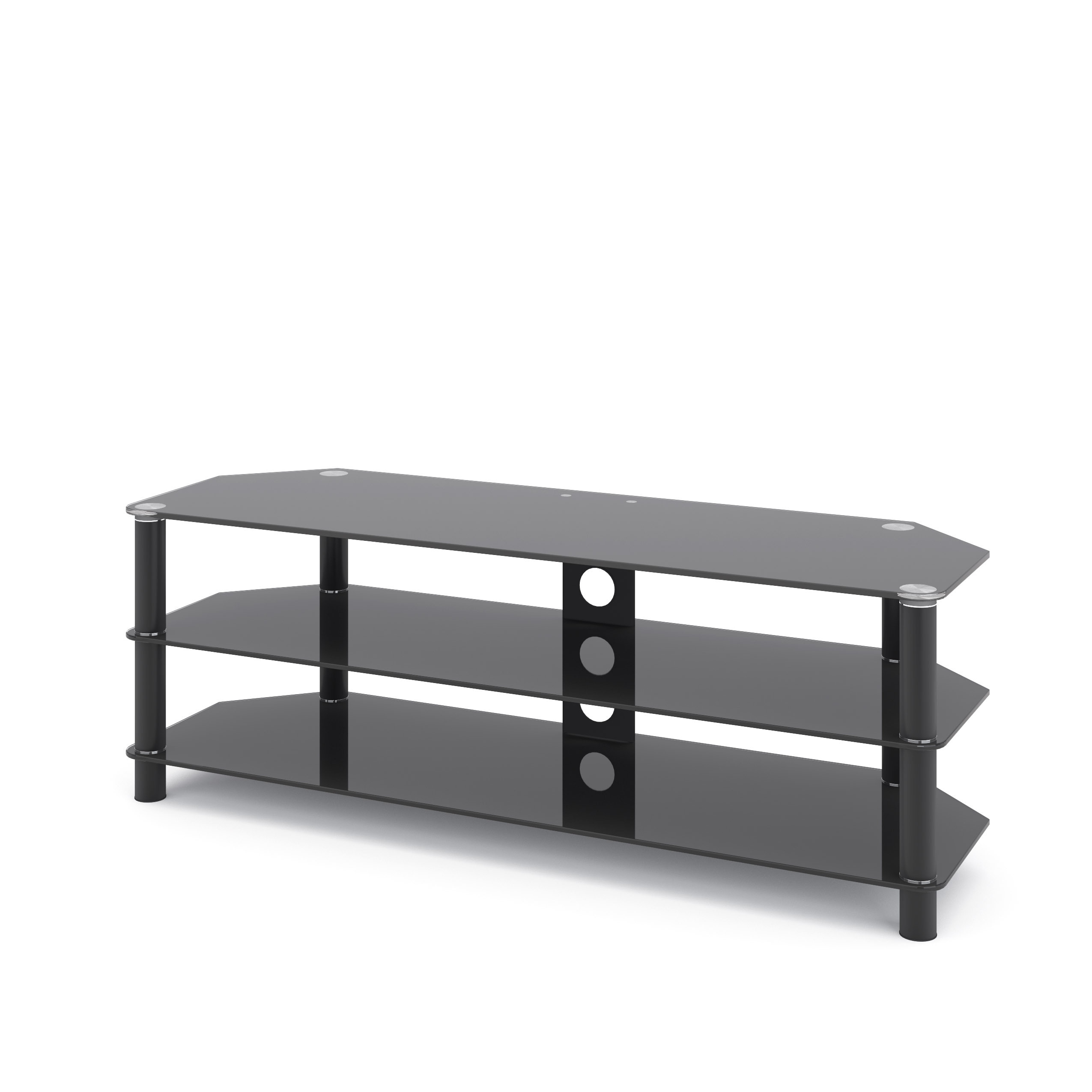 Corliving Tra 704 T Trinidad Black Gl Tv Stand Free Shipping Today 16596868