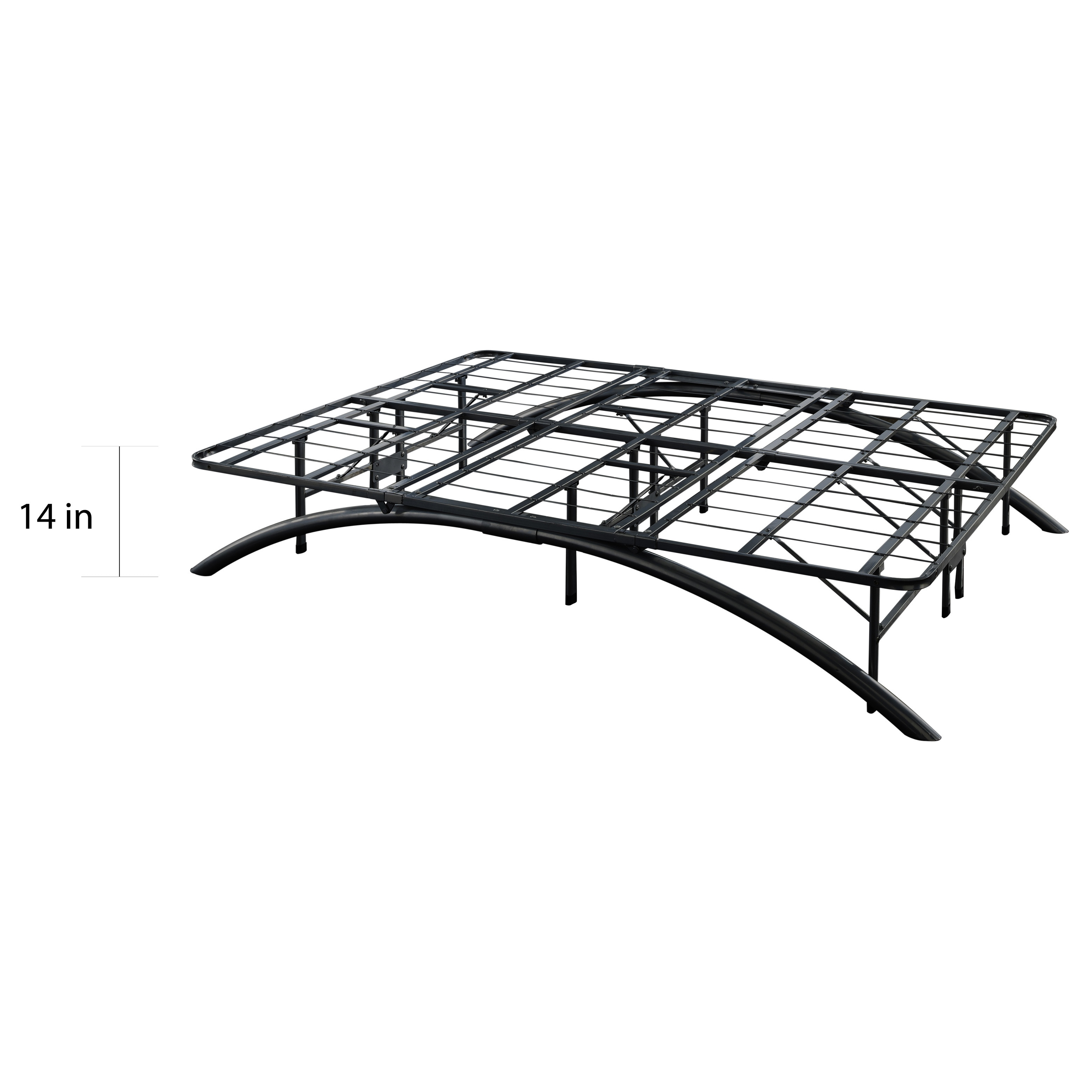 Shop Sleep Sync Arch Flex Black Platform Bed Frame - Free Shipping ...