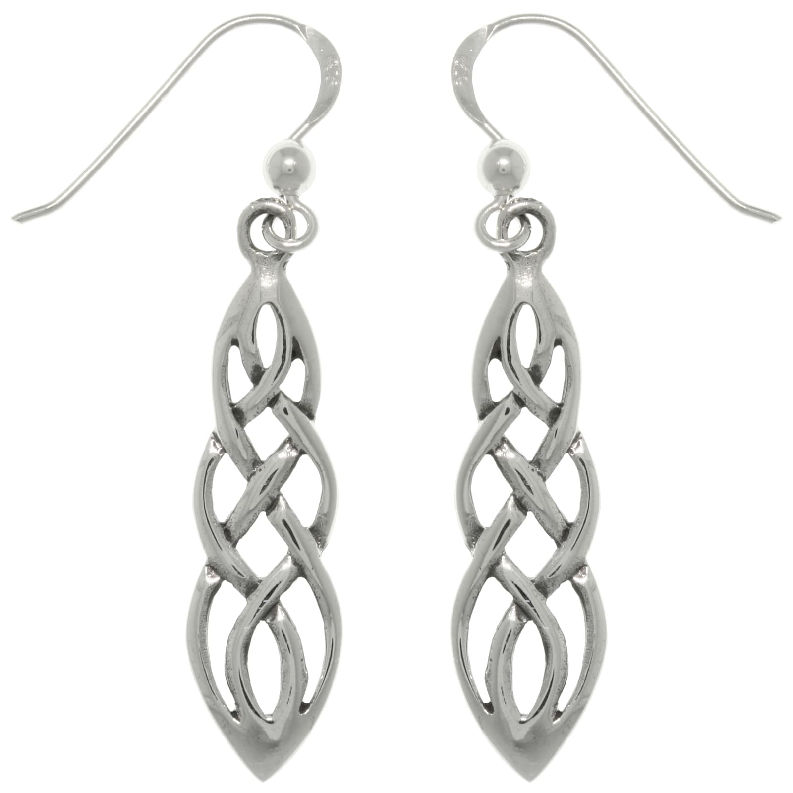 htm s earrings celtic knot p silver drop sterling trinity