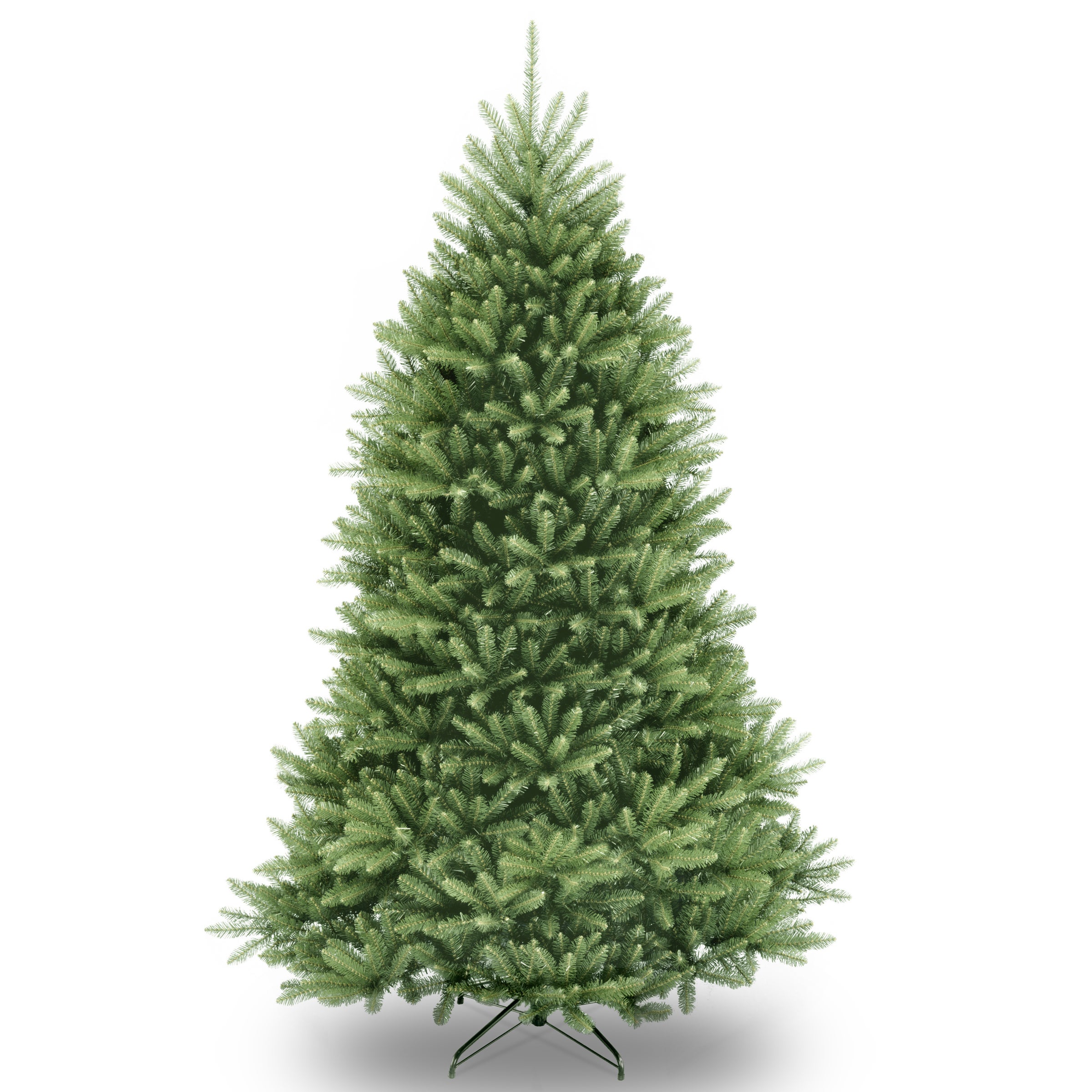 6.5-foot Dunhill Fir Pre-lit or Unlit Artificial Hinged Christmas ...