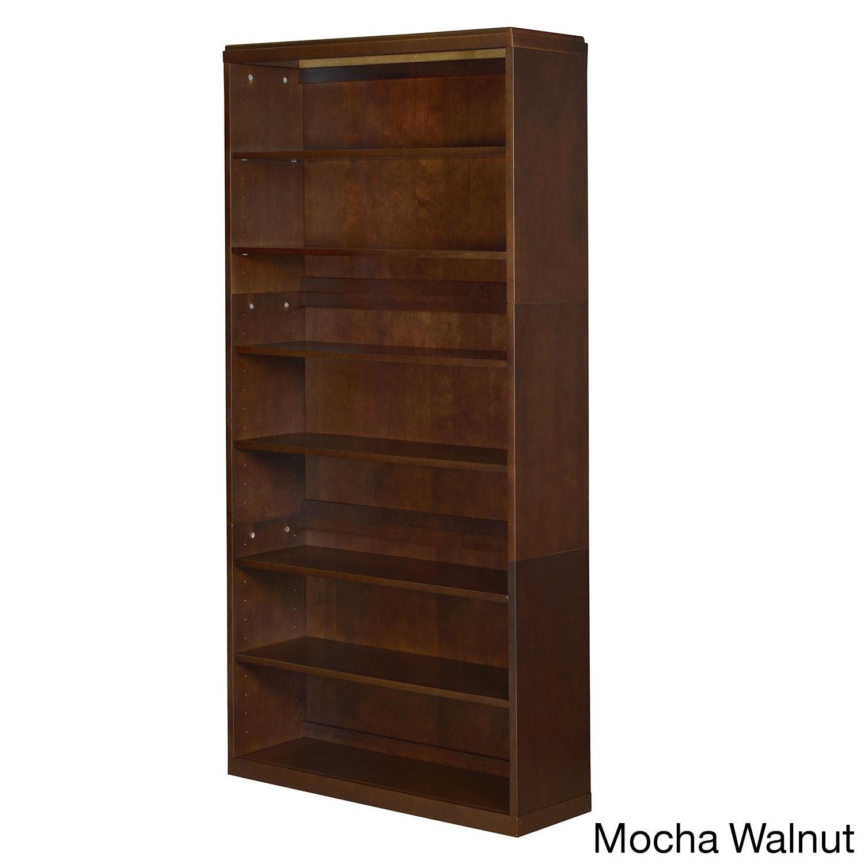 Shop regency belcino wood 76 inch 6 shelf bookcase free shipping today overstock com 9413902