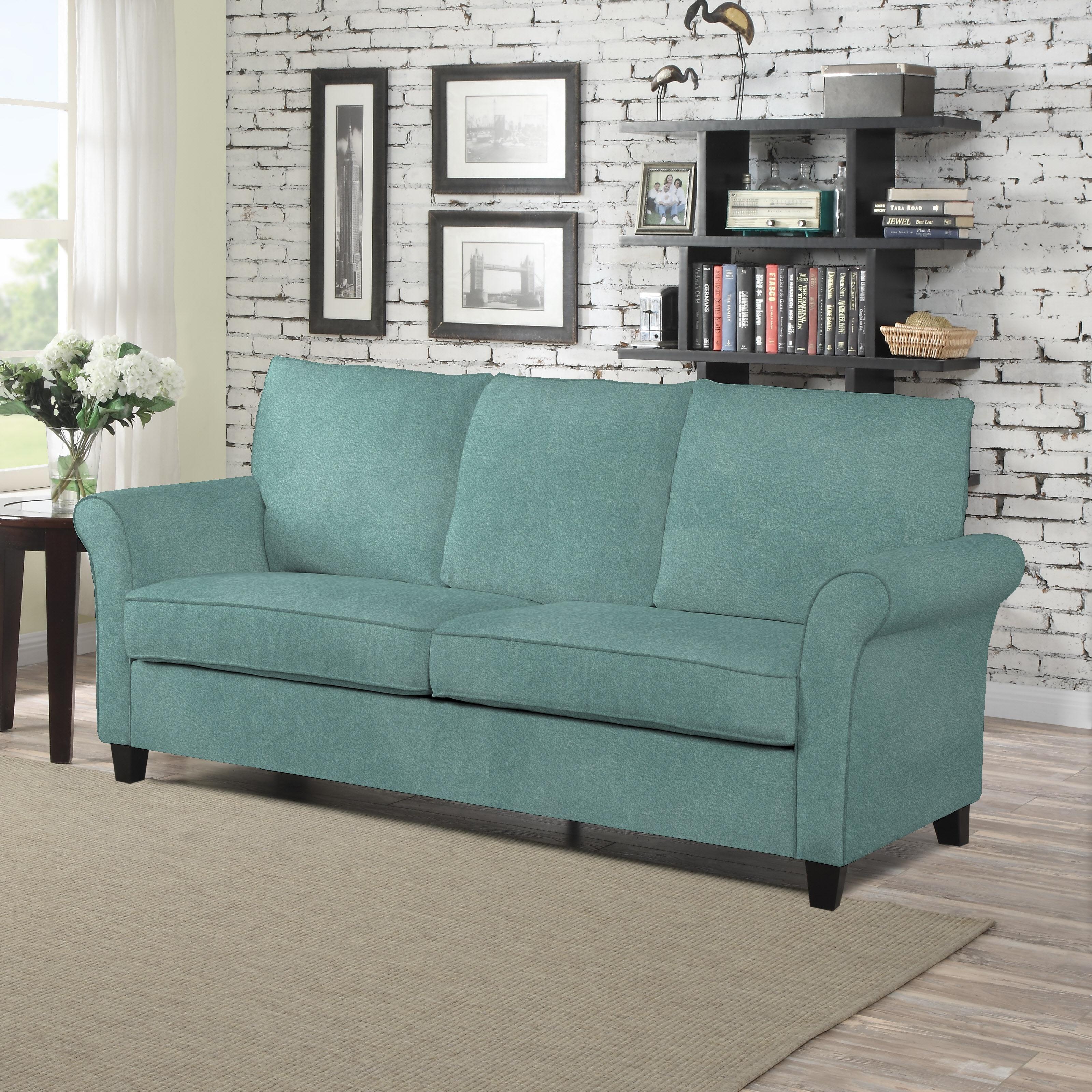 handy living radford turquoise velvet sofast sofa  free shipping  - handy living radford turquoise velvet sofast sofa  free shipping today overstockcom