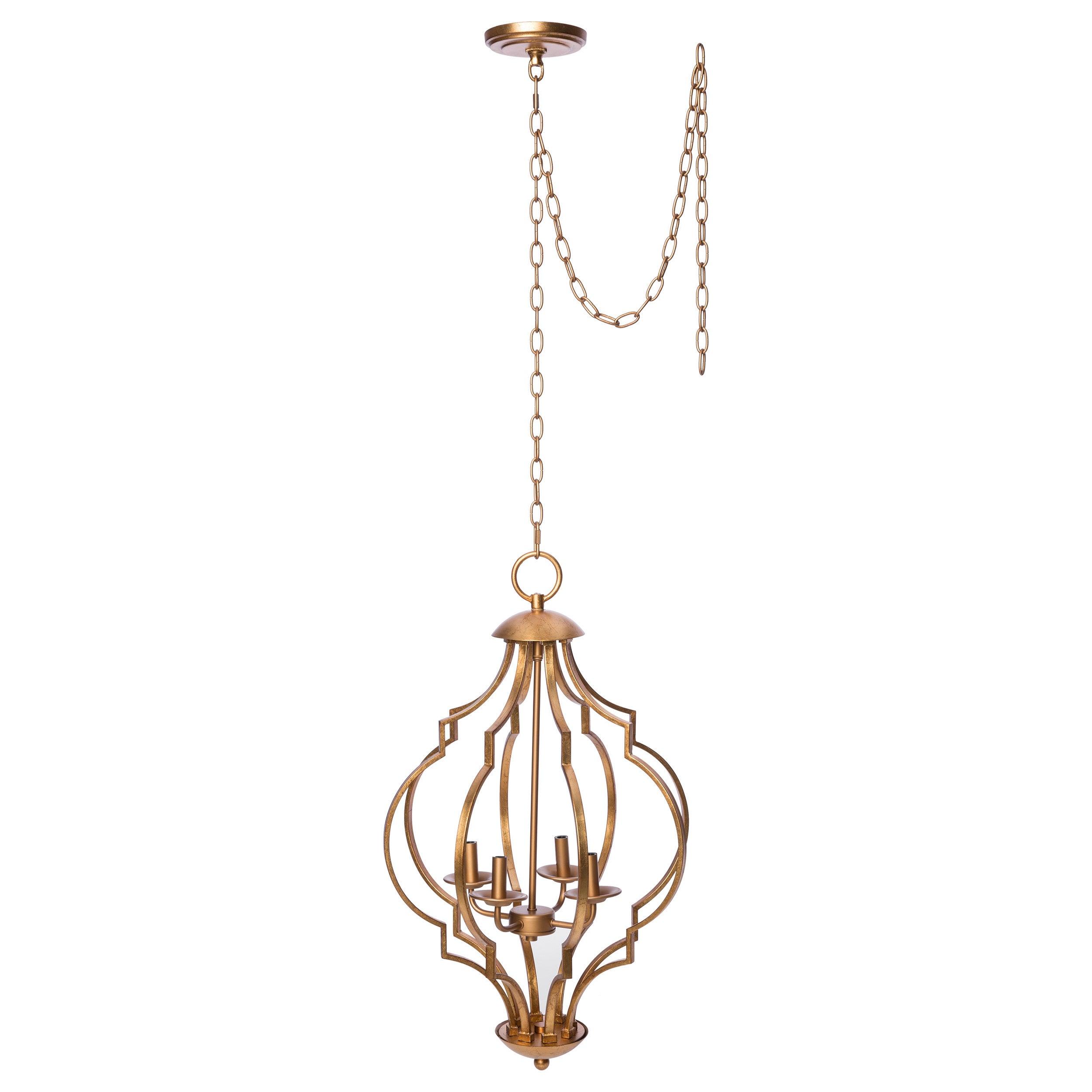 Gold Leaf Trellis 4 Light Chandelier Free Today Com 9415470
