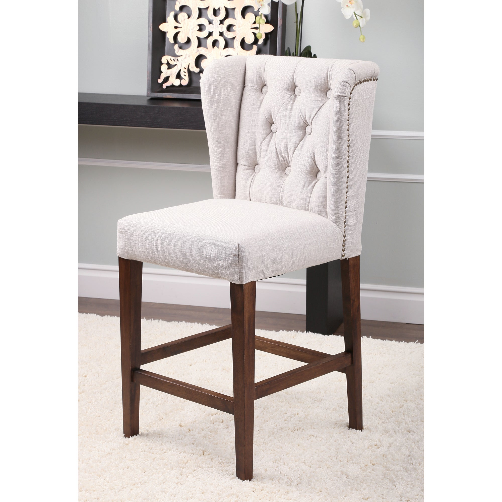 For Living Tufted Bar Stool Square