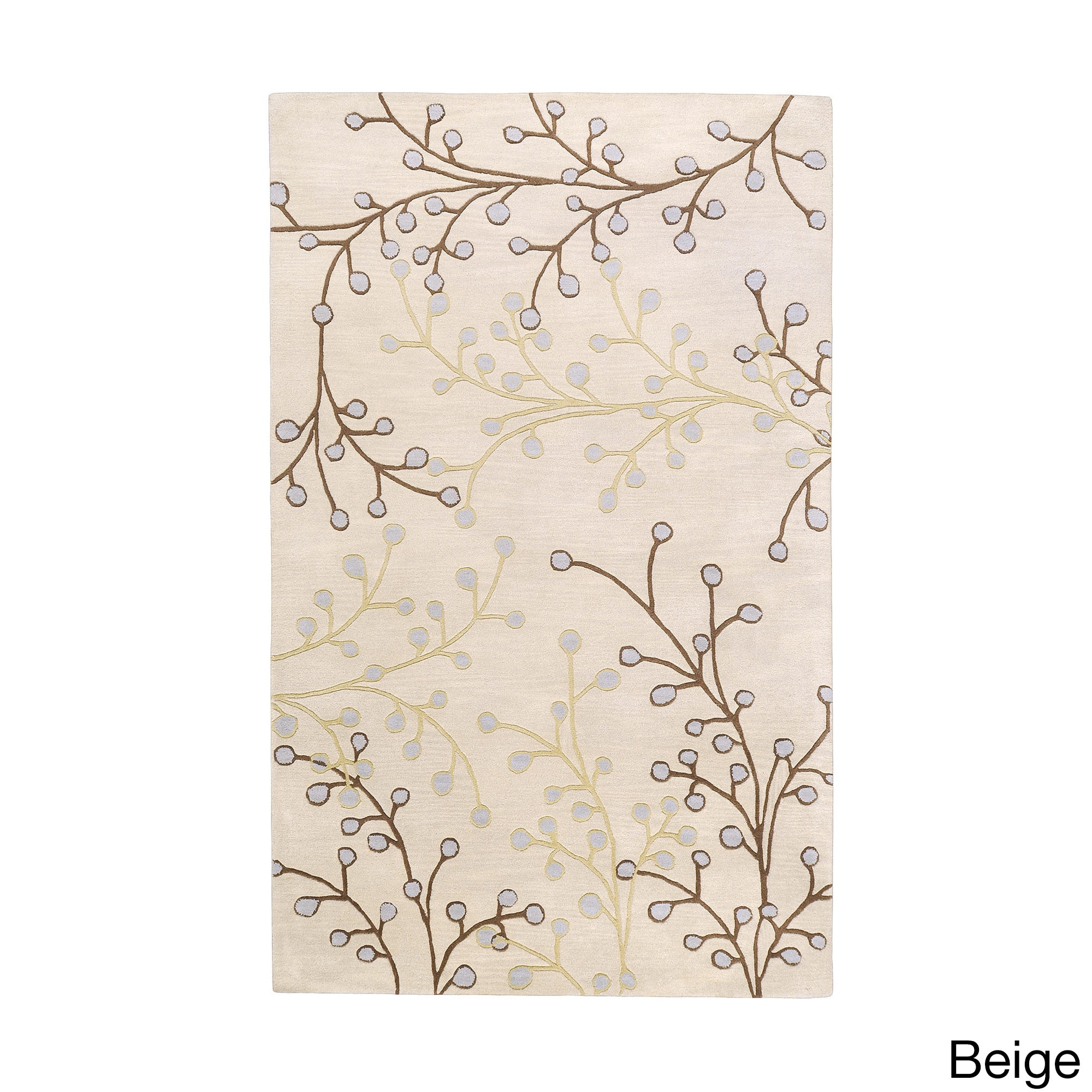 Well-liked Hand-tufted Sakura Branch Floral Wool Area Rug - 5' x 8' - Free  UB65