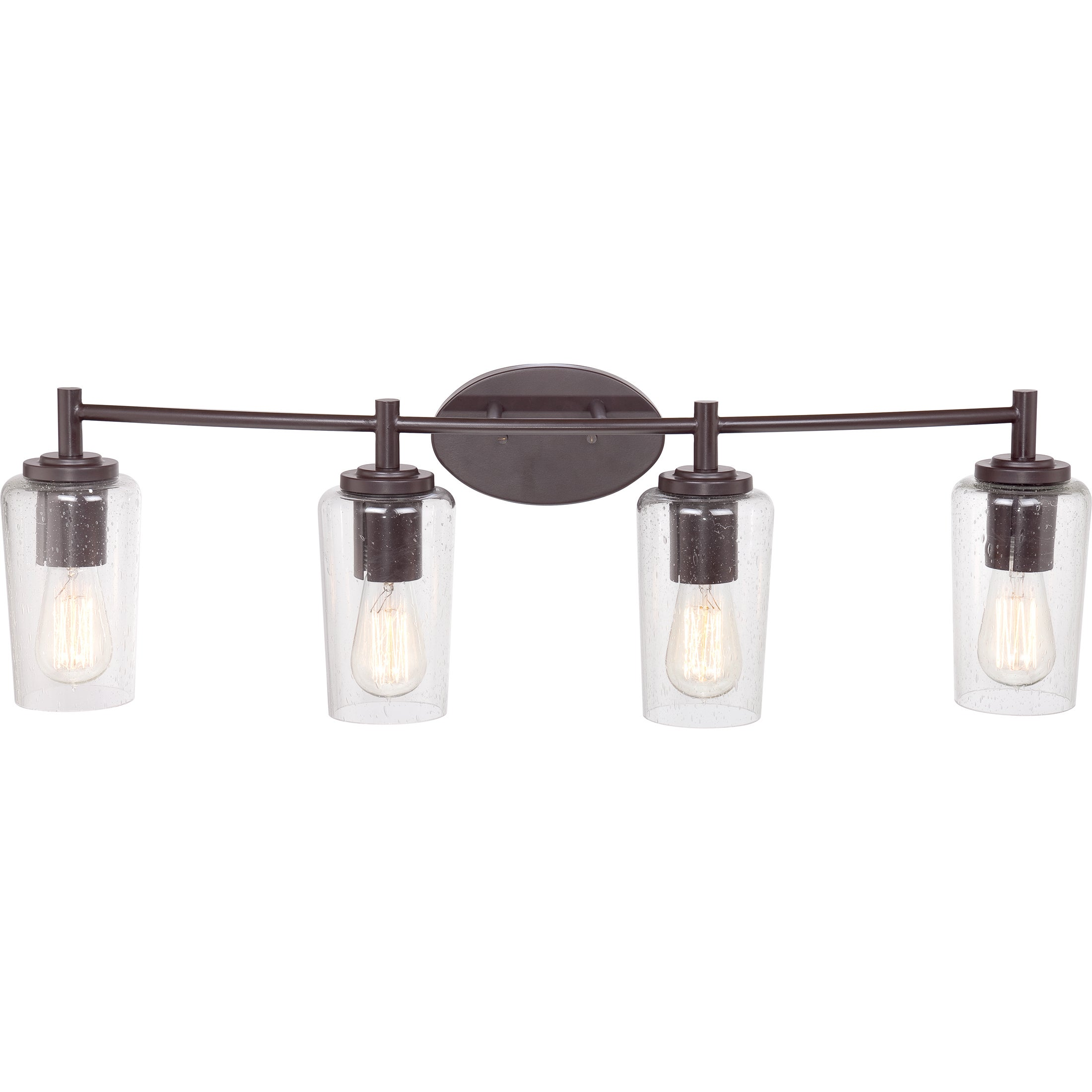 Quoizel Edison Western Bronze 4 Light Bath Fixture With Seedy Gl Free Shipping Today 9421992