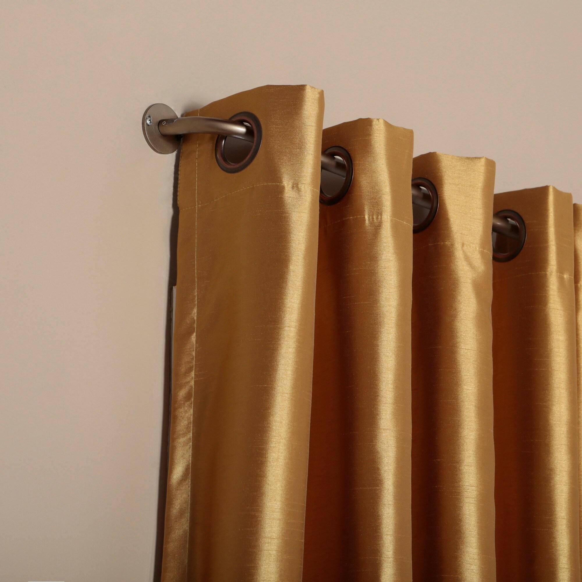 Shop Aurora Home Wraparound Blackout Curtain Rod - On Sale - Free ...