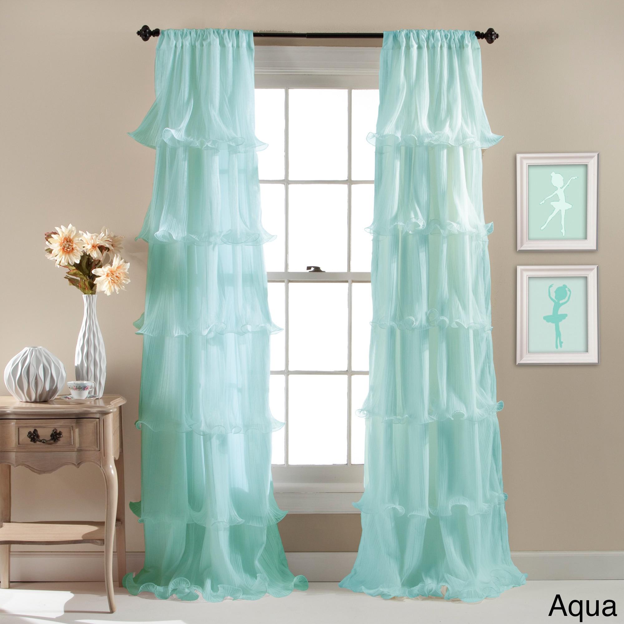 fashions curtain cream panel ruffle ruffled curtains lorraine view home sheer gypsy