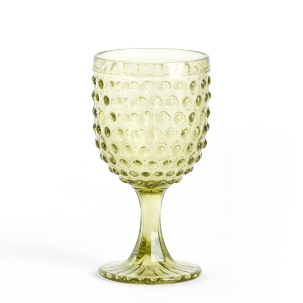 Hobnail Water Goblet Glass (set of 6) - Free Shipping Today ...
