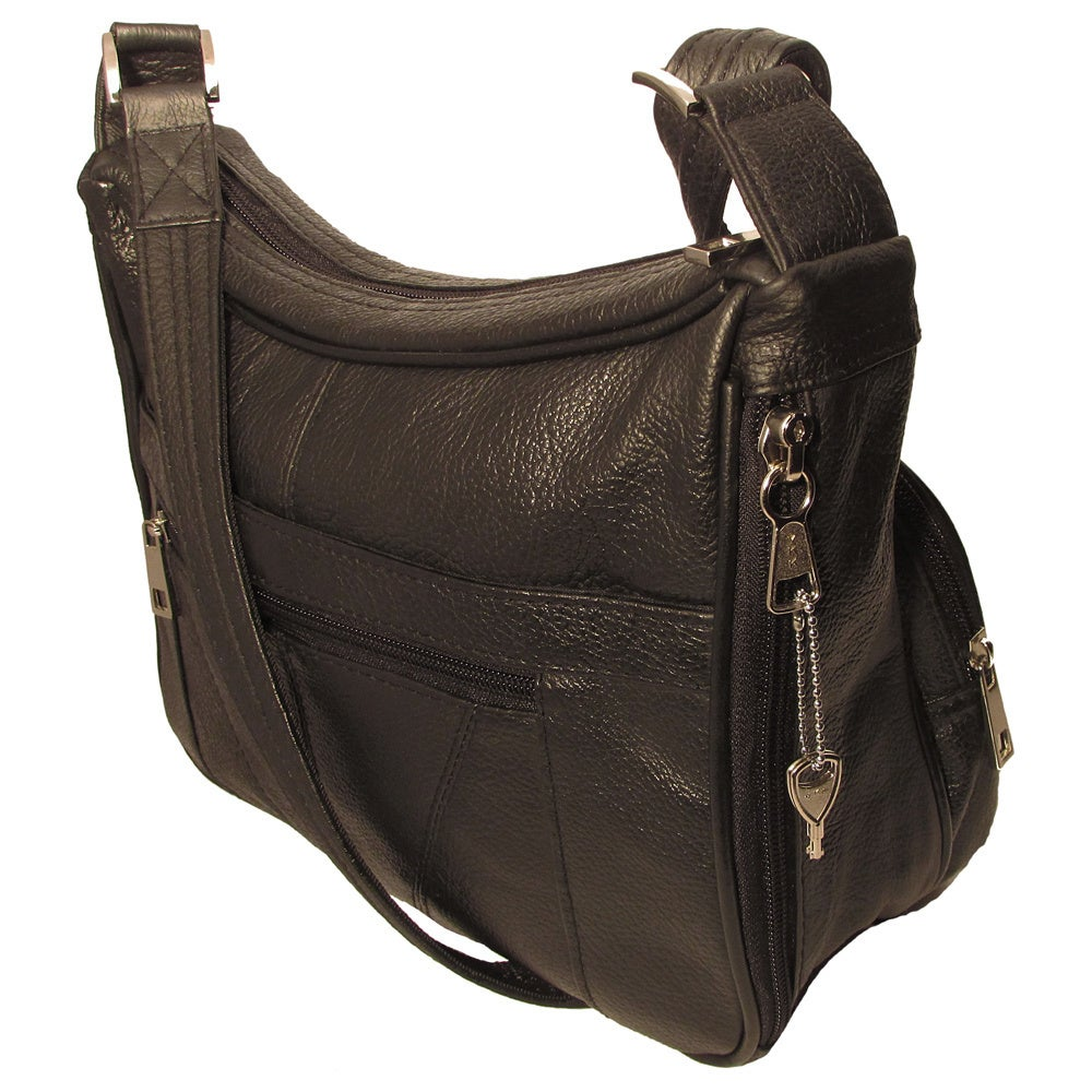Genuine Top Grain Leather Concealed Carry Shoulder Messenger Bag Ccw Free Shipping Today 9427515