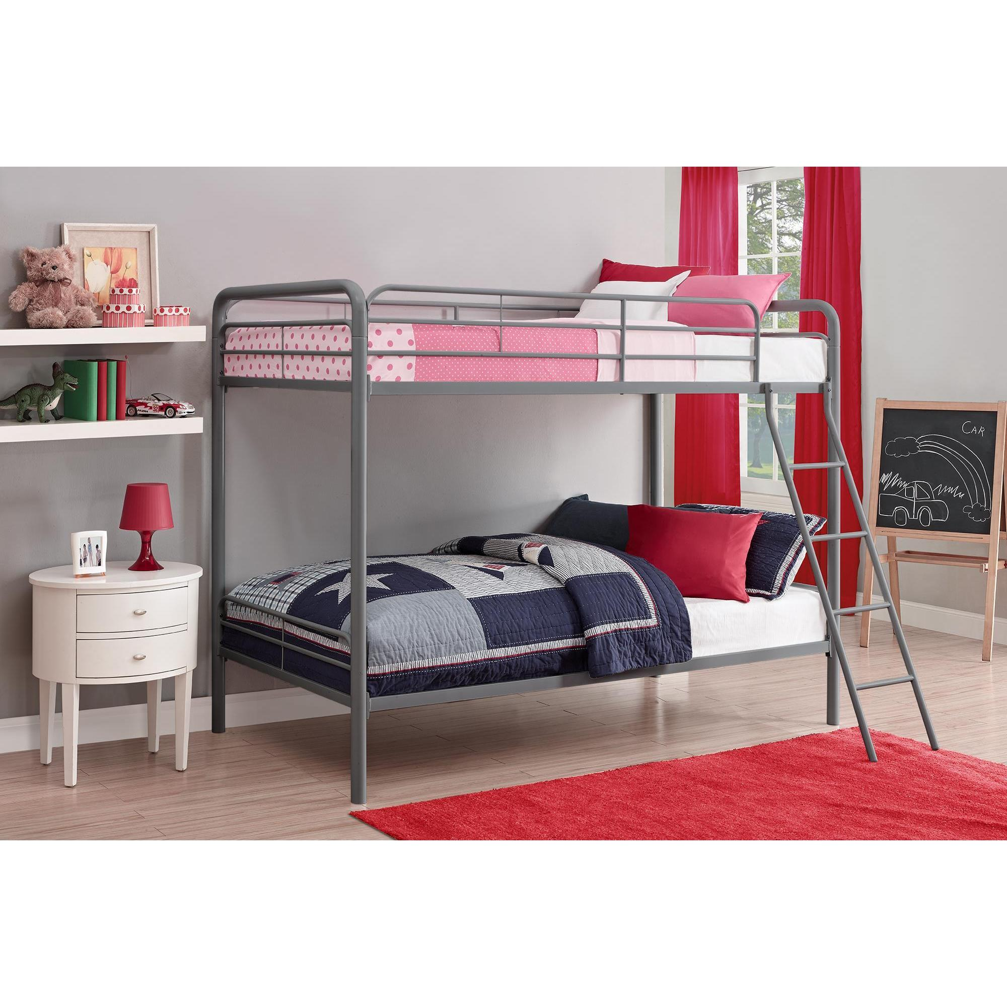DHP Twin over Twin Metal Bunk Bed Free Shipping Today
