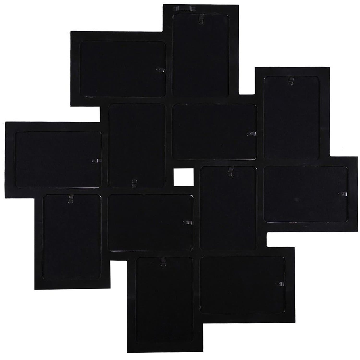 Shop Adeco Black Wooden 12-opening Wall Collage Photo Picture Frame ...