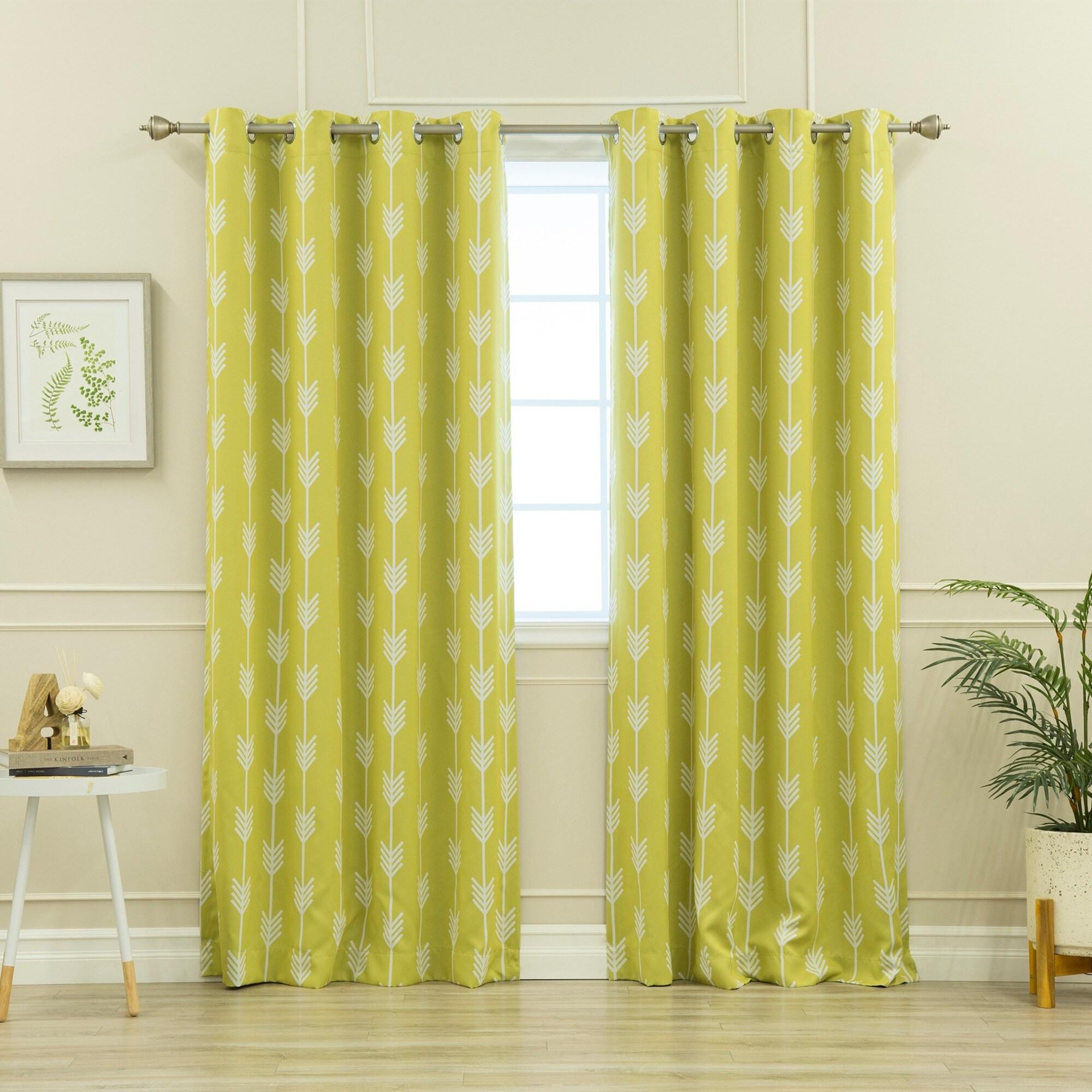 Shop Aurora Home Arrow Room Darkening Blackout Grommet Curtain - 52 ...